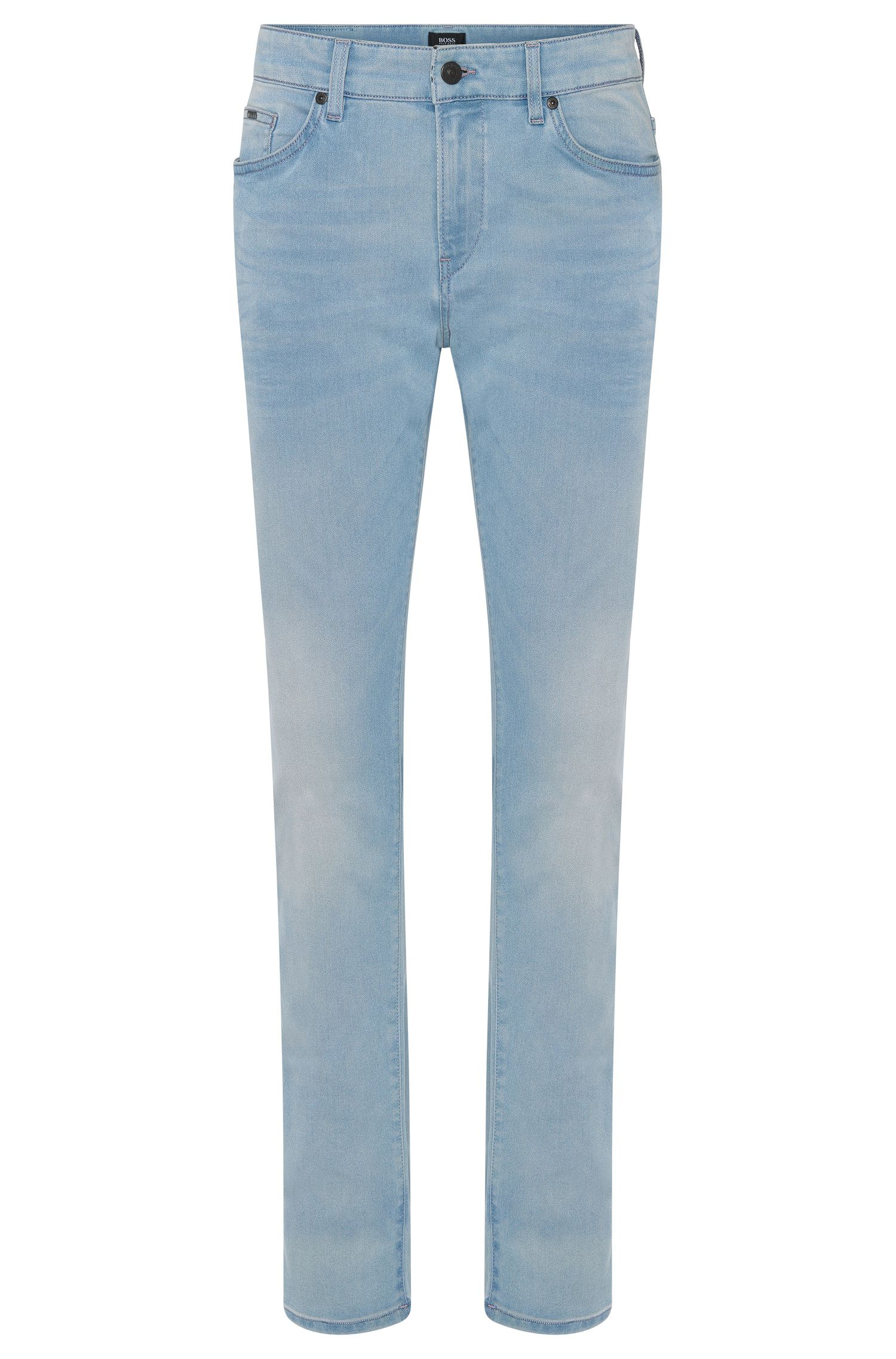 Slim-fit cotton-blend jeans with subtle used-look wash: 'Delaware3-1'