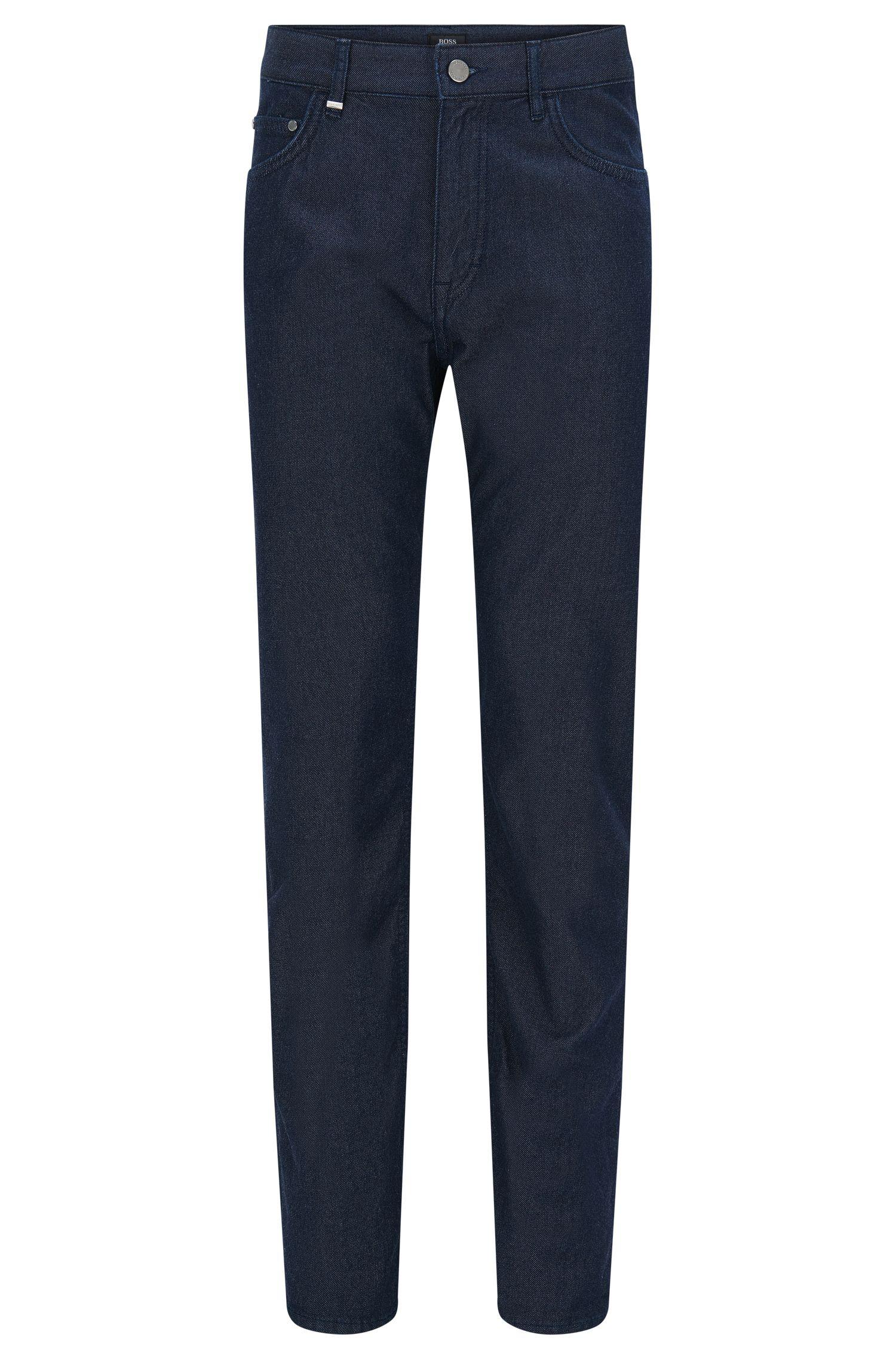 Jeans relaxed fit in misto cotone con cashmere con effetto stropicciato: 'Albany'