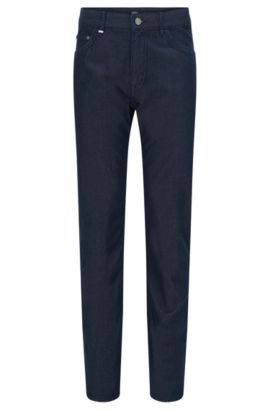 Relaxed-Fit Jeans aus Baumwoll-Mix mit Kaschmir in Rinsed-Optik: 'Albany', Dunkelblau