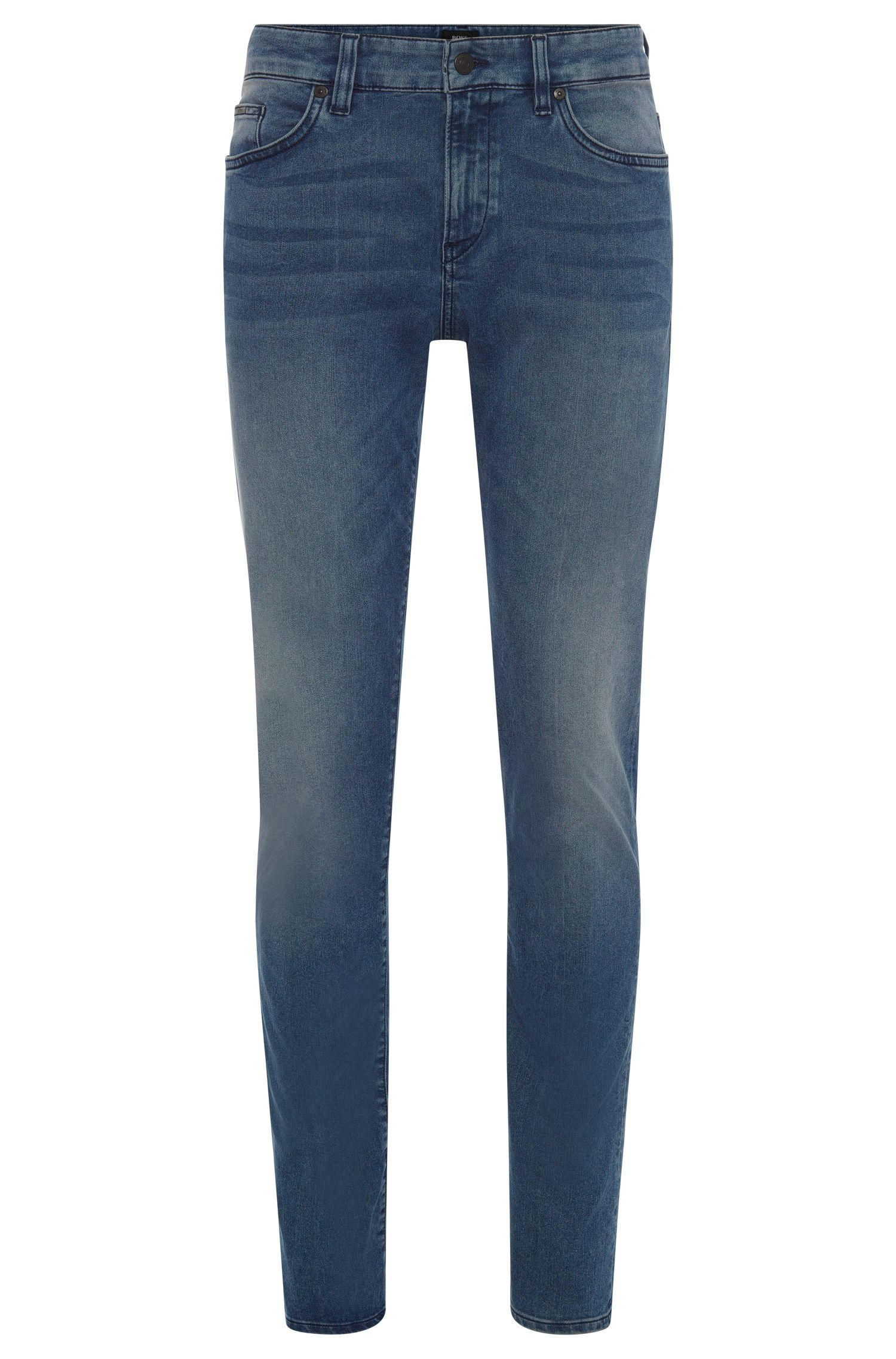 Jeans slim fit in misto cotone con leggero effetto slavato: 'Delaware3-1'