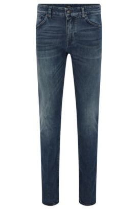 Regular-Fit Jeans aus Stretch-Baumwolle mit Used-Waschung: 'Maine3', Blau