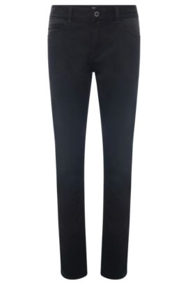 Slim-fit jeans in stretch cotton: 'Delaware5-1-MB' from the Mercedes-Benz Collection, Black