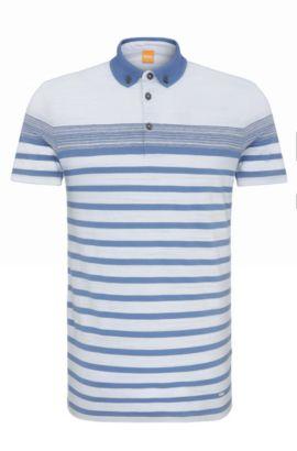 Polo Regular Fit, en coton à rayures: «Promo», Bleu vif