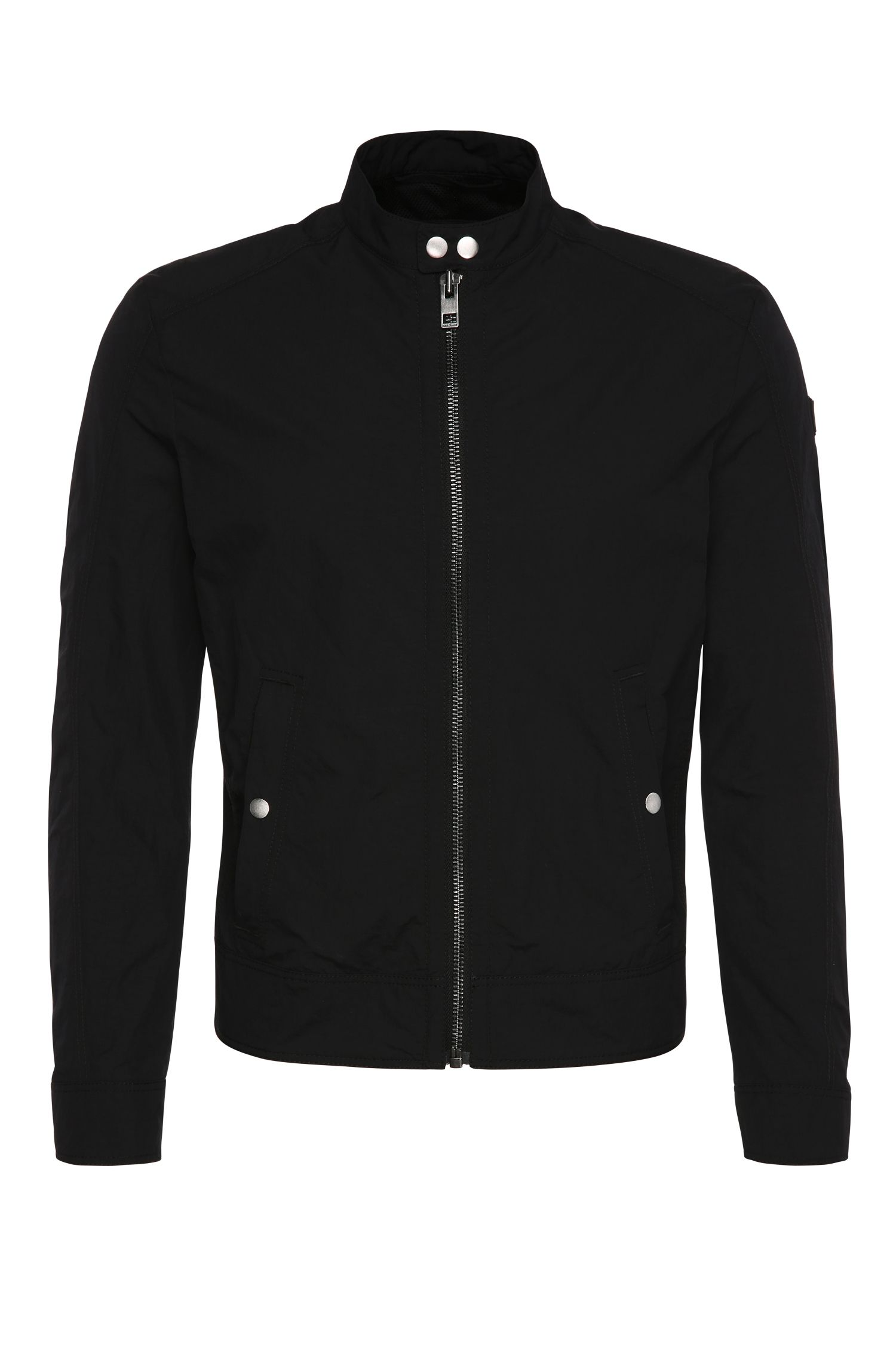 Slim-fit jacket made from fabric blend in biker style: 'Onate'