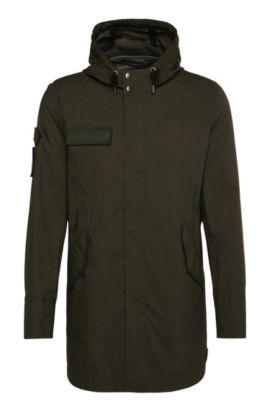 Regular-fit cotton parka: 'Omaric', Dark Green