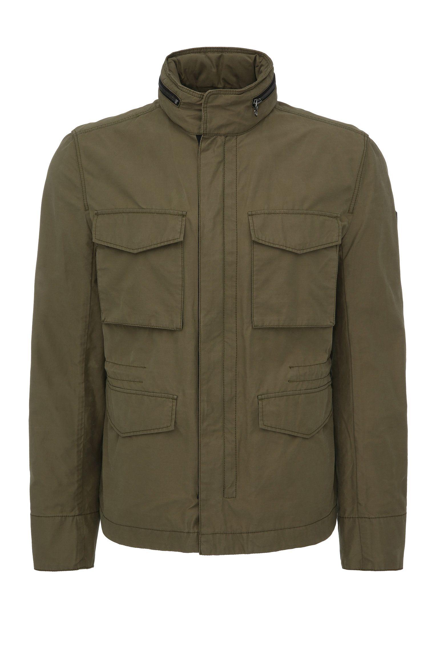 Cazadora de estilo militar regular fit en mezcla de algodón: 'Odean-W'