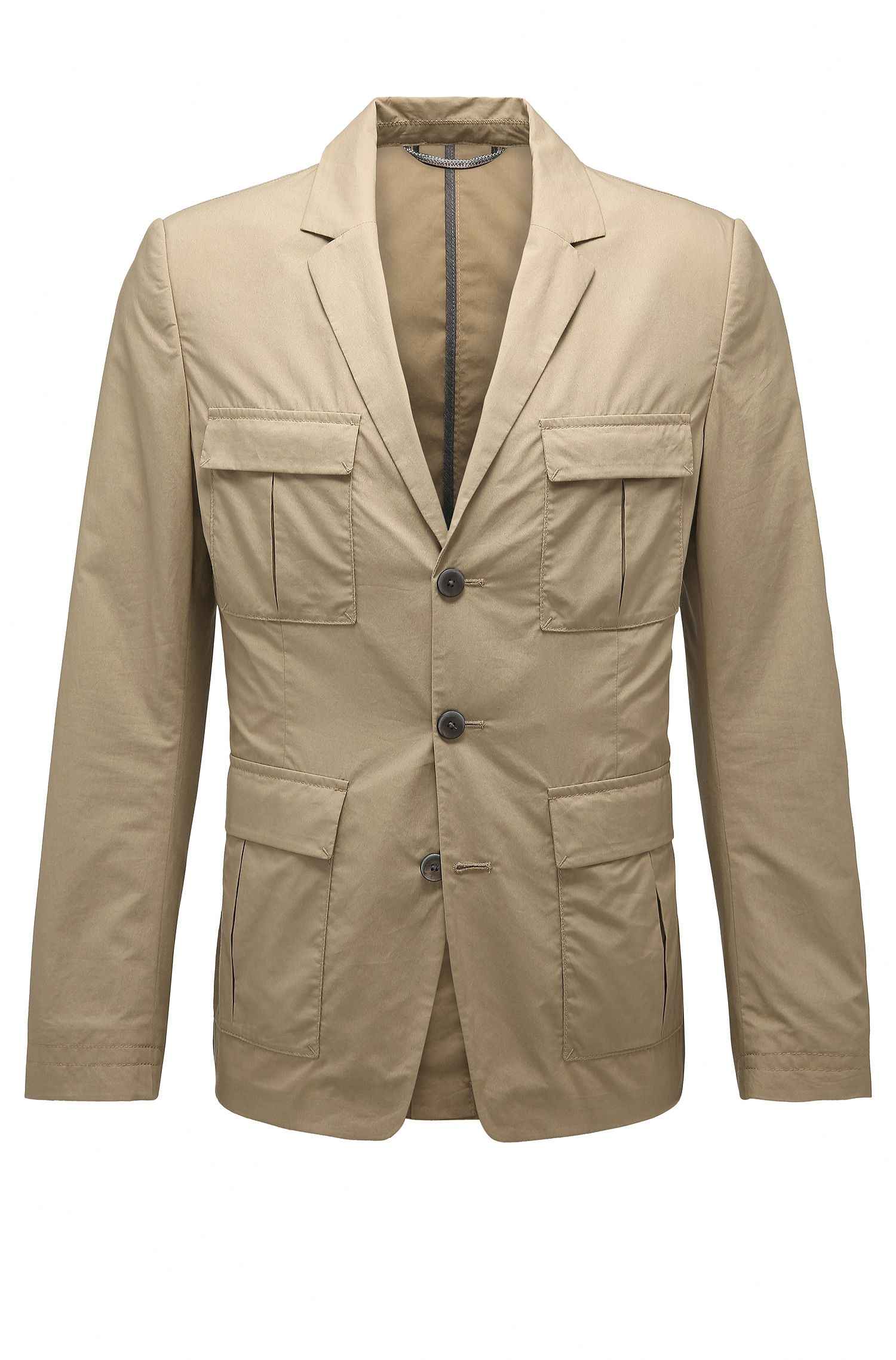 Slim-fit jacket in cotton: 'Bail'