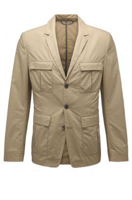 Slim-fit jacket in cotton: 'Bail', Beige