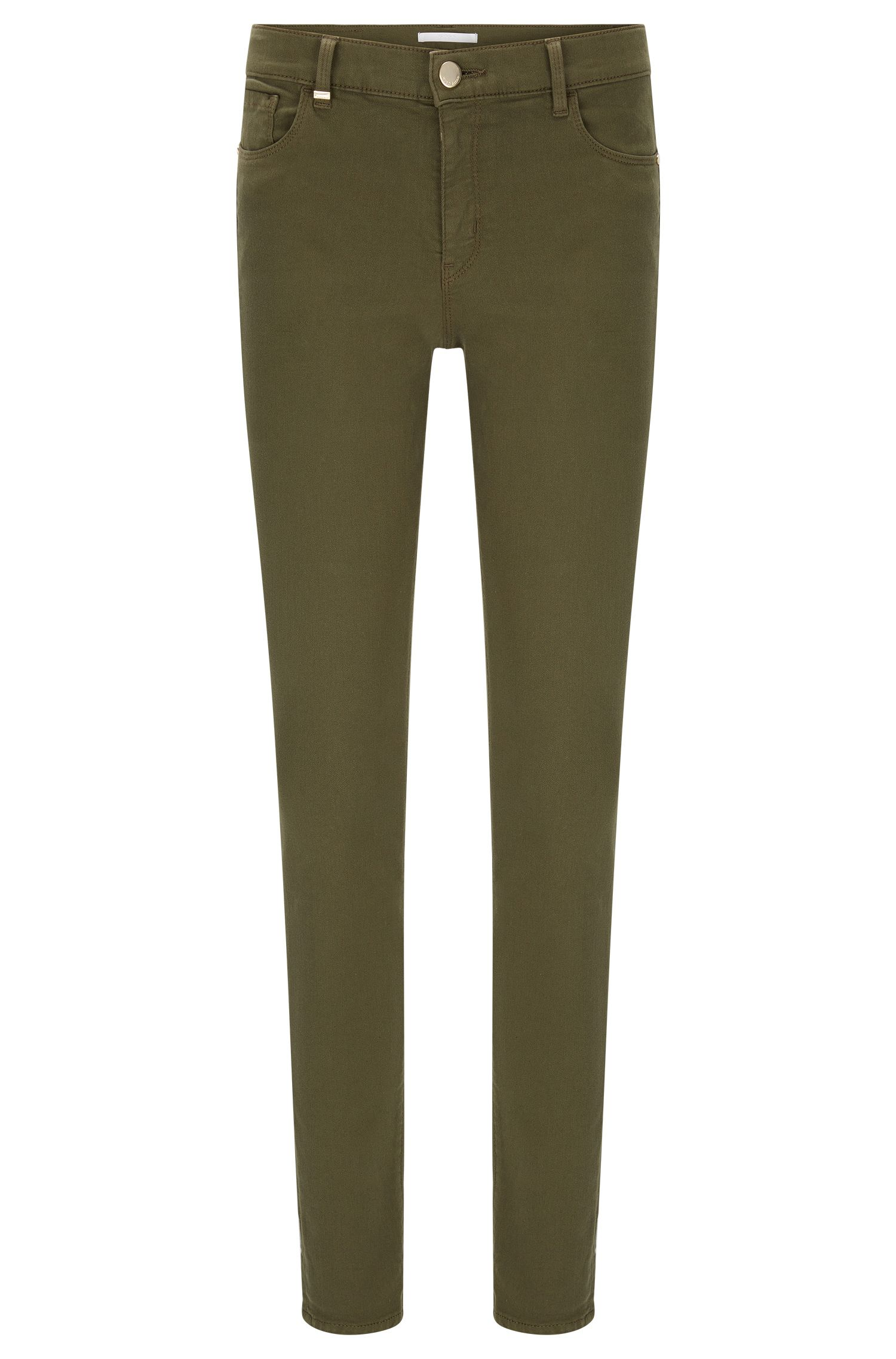 Jeans Slim Fit en coton mélangé extensible: «Nafice Cuff»