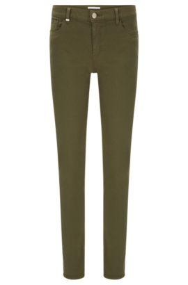 Jeans slim fit in misto cotone elasticizzato: 'Nafice Cuff', Kaki