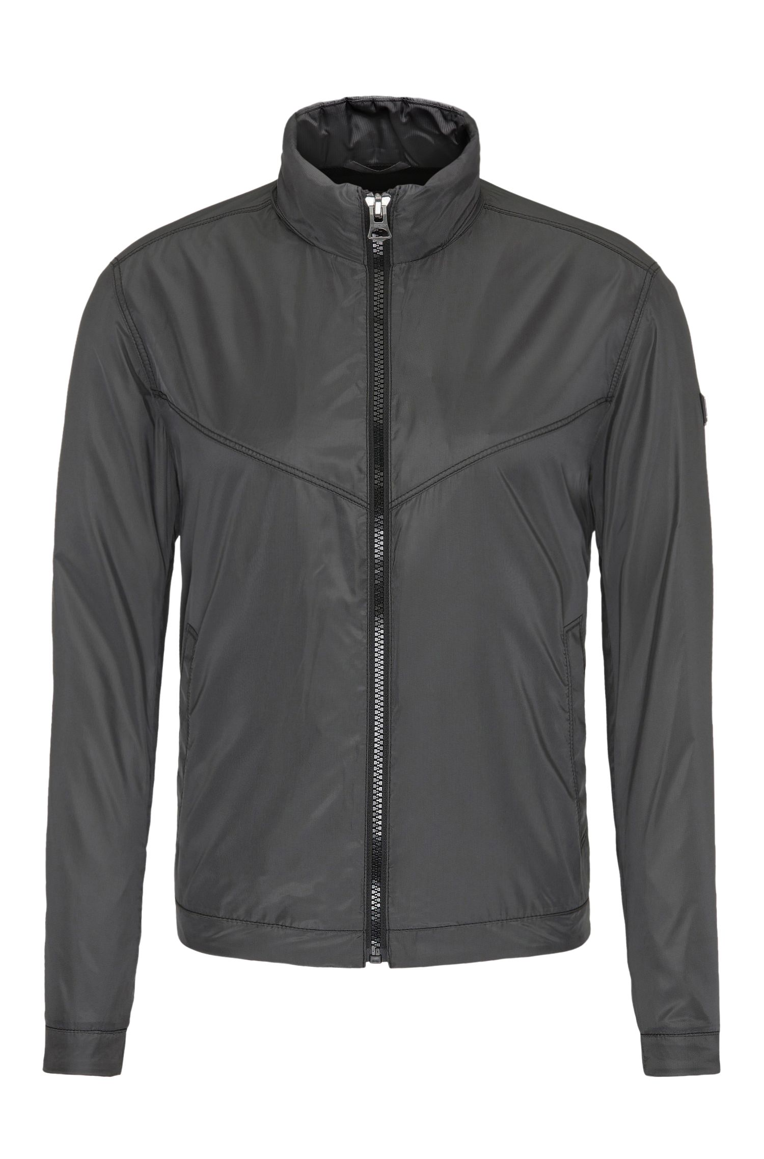 Leichte Outdoor-Jacke aus Material-Mix mit Karomuster: ´Ombay`
