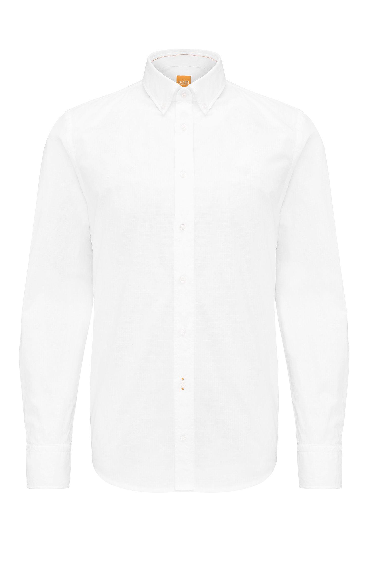Camisa slim fit en algodón con diseño de cuadros: 'Epreppy'