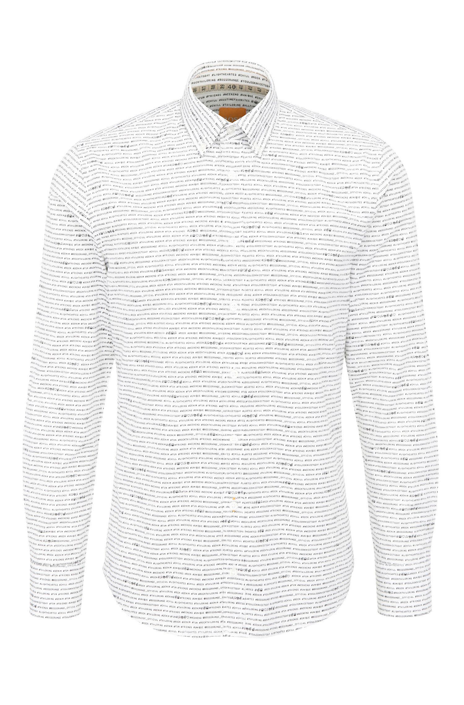 Camisa slim fit en algodón con estampado integral: 'Epreppy'