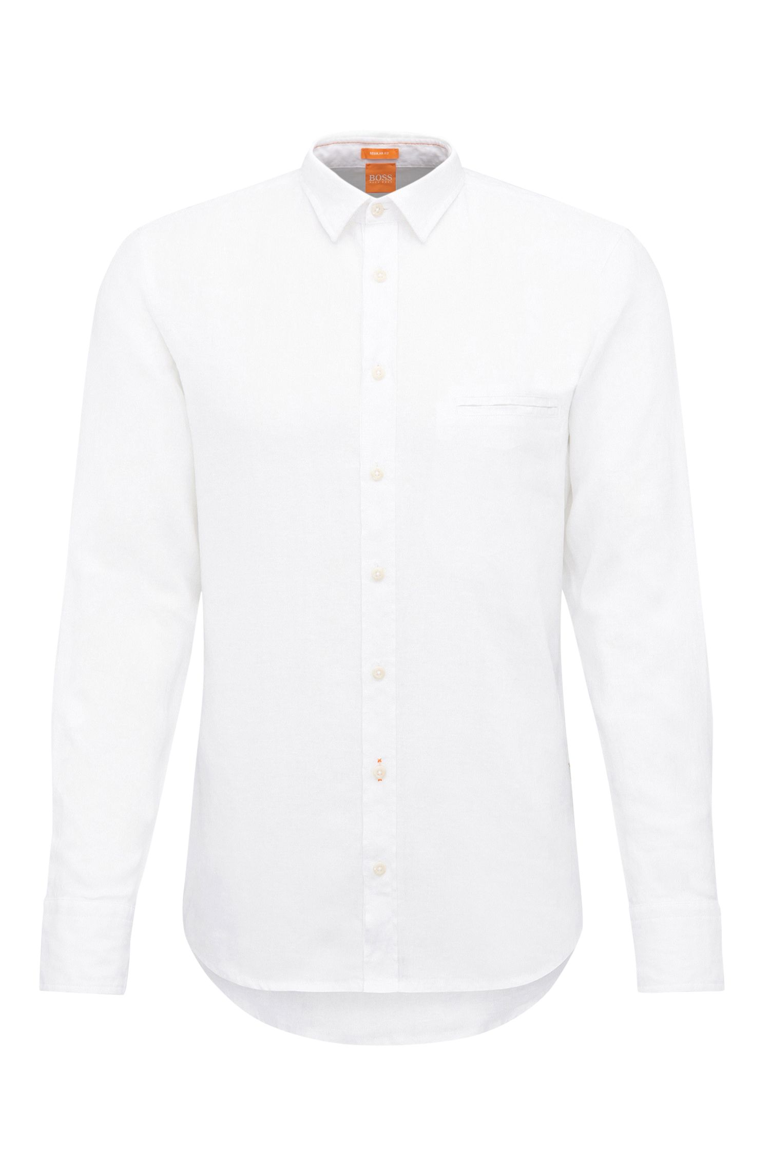 Camisa regular fit de lino con textura: 'Elvedge'