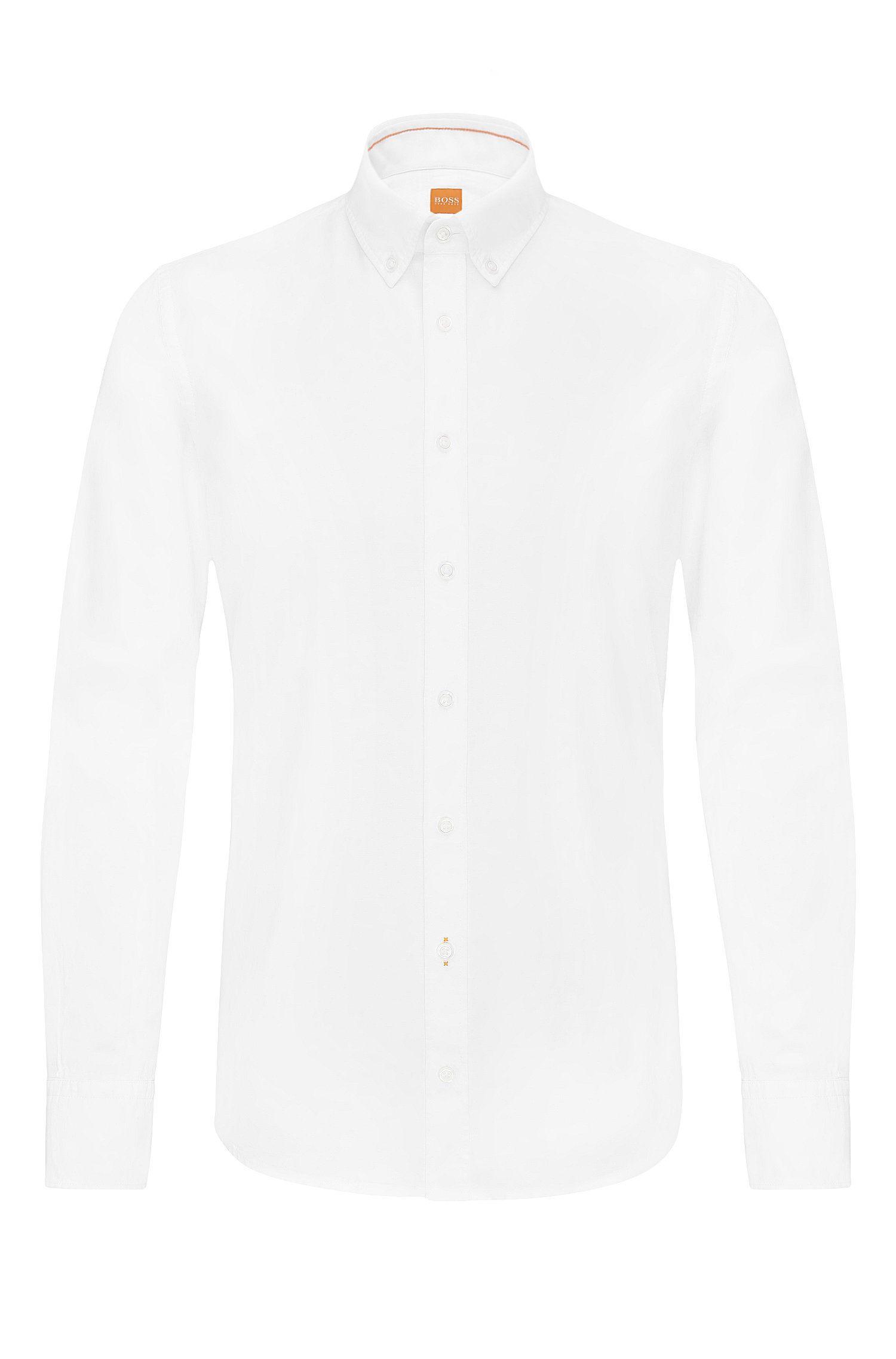 Meliertes Slim-Fit Hemd aus Baumwolle: ´Epreppy`