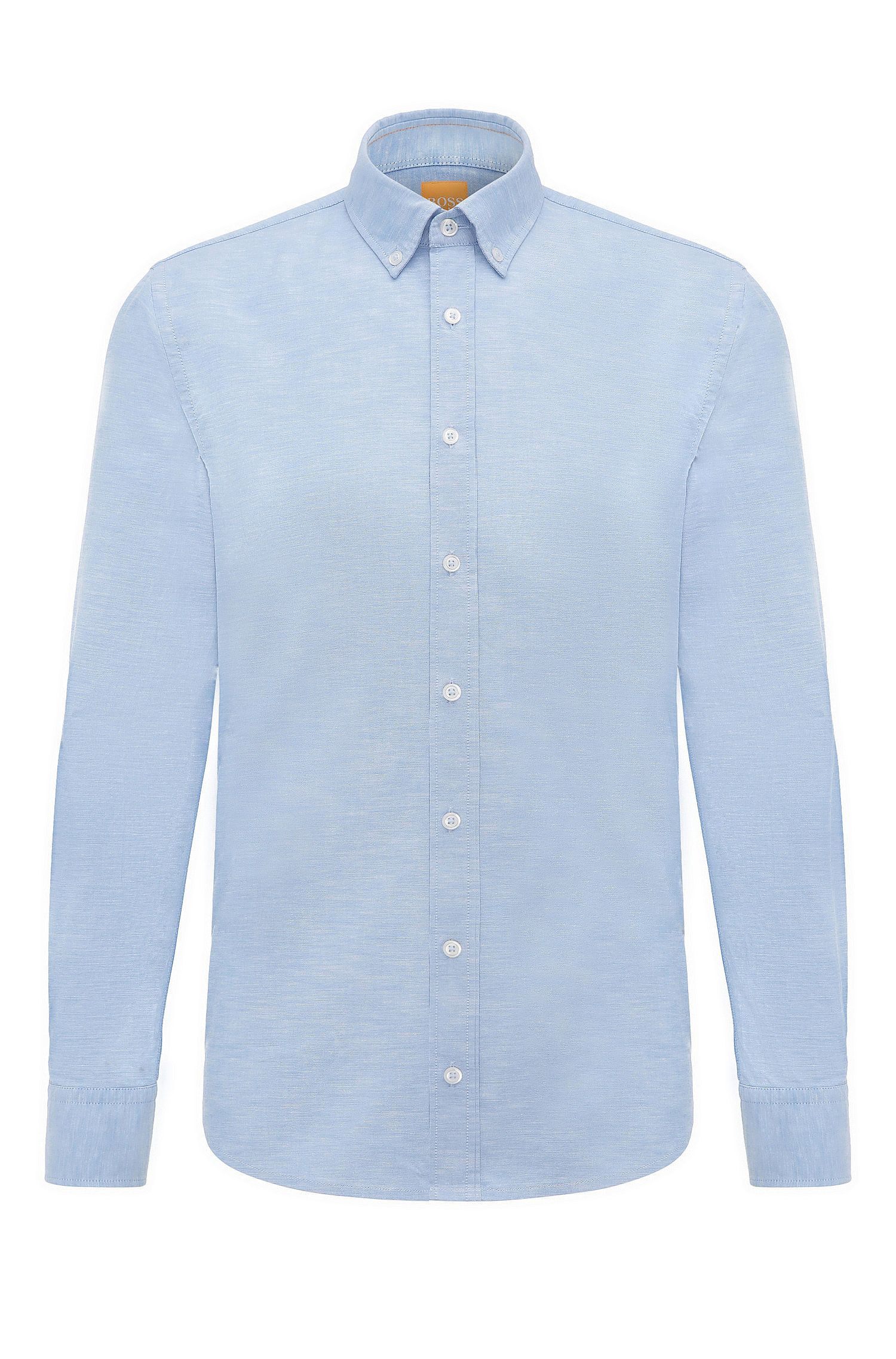 Camicia slim fit in cotone mélange: 'Epreppy'