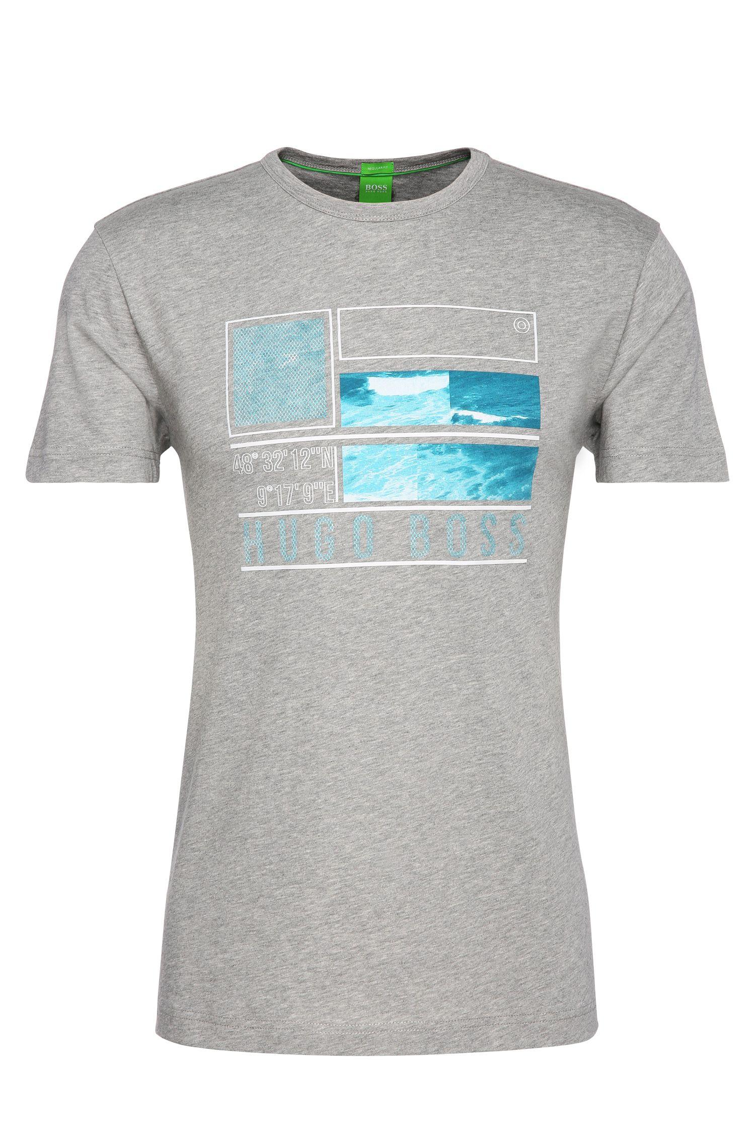 Regular-Fit Baumwollshirt mit Print: ´Tee 4`