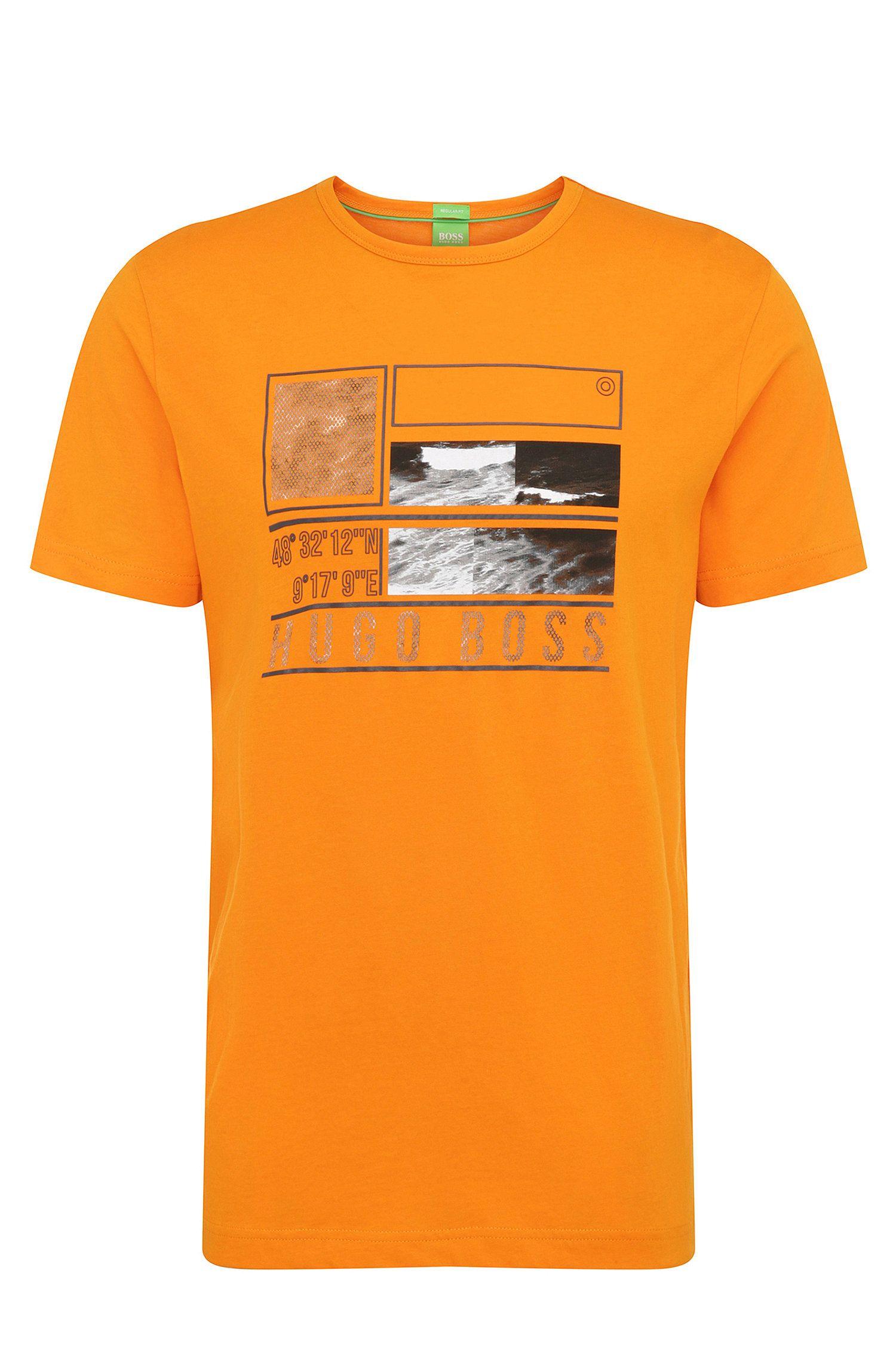 Regular-fit printed cotton shirt: 'Tee 4'