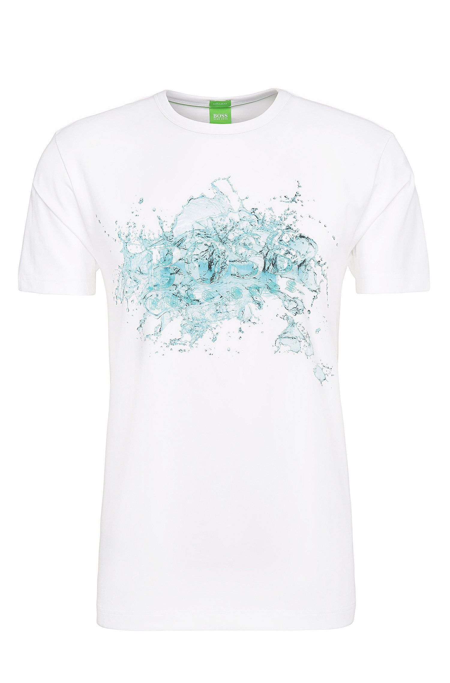 T-shirt imprimé Regular Fit en coton extensible: «Tee8»