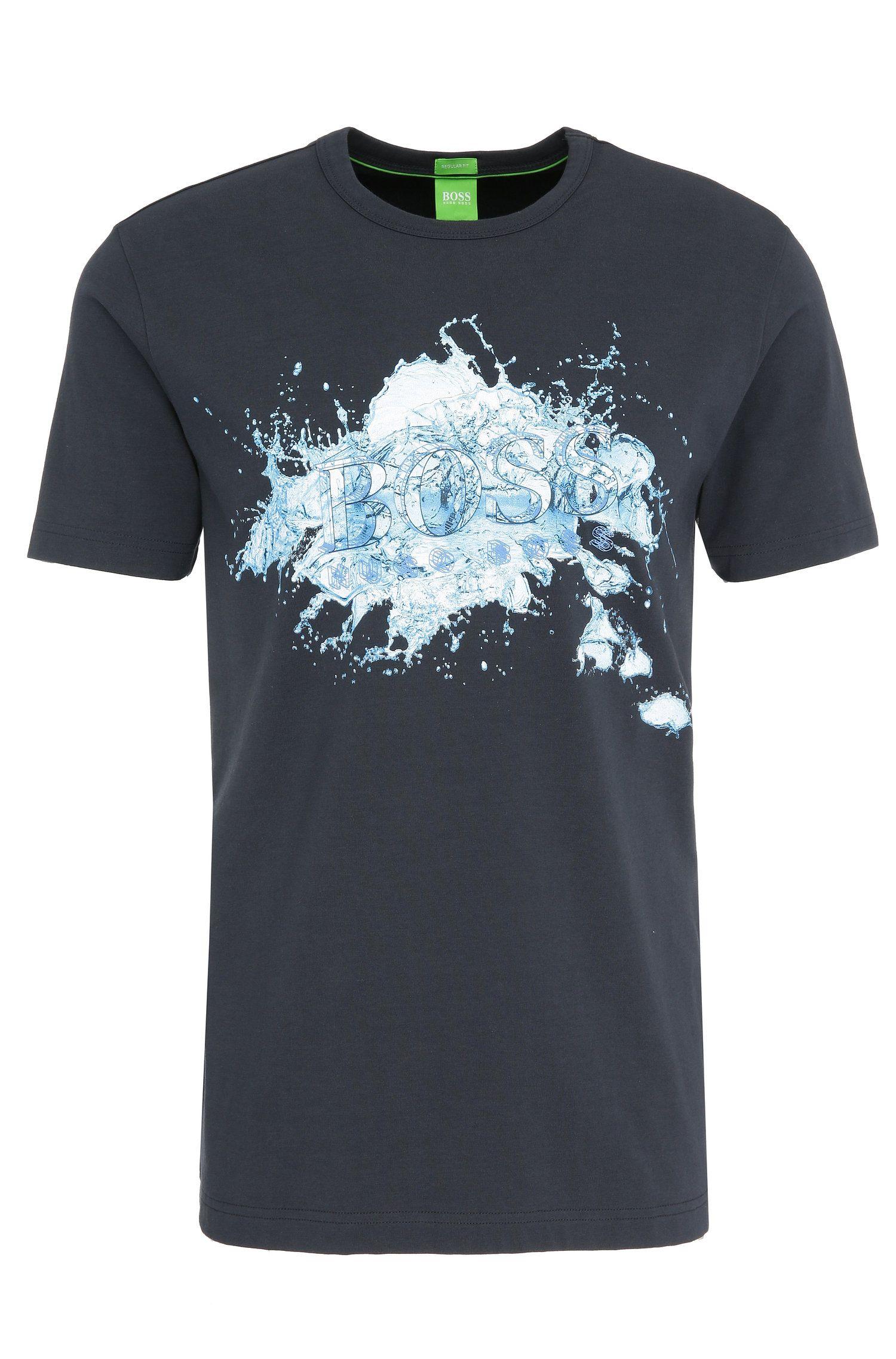 Maglietta con stampa regular fit in cotone elasticizzato: 'Tee 8'