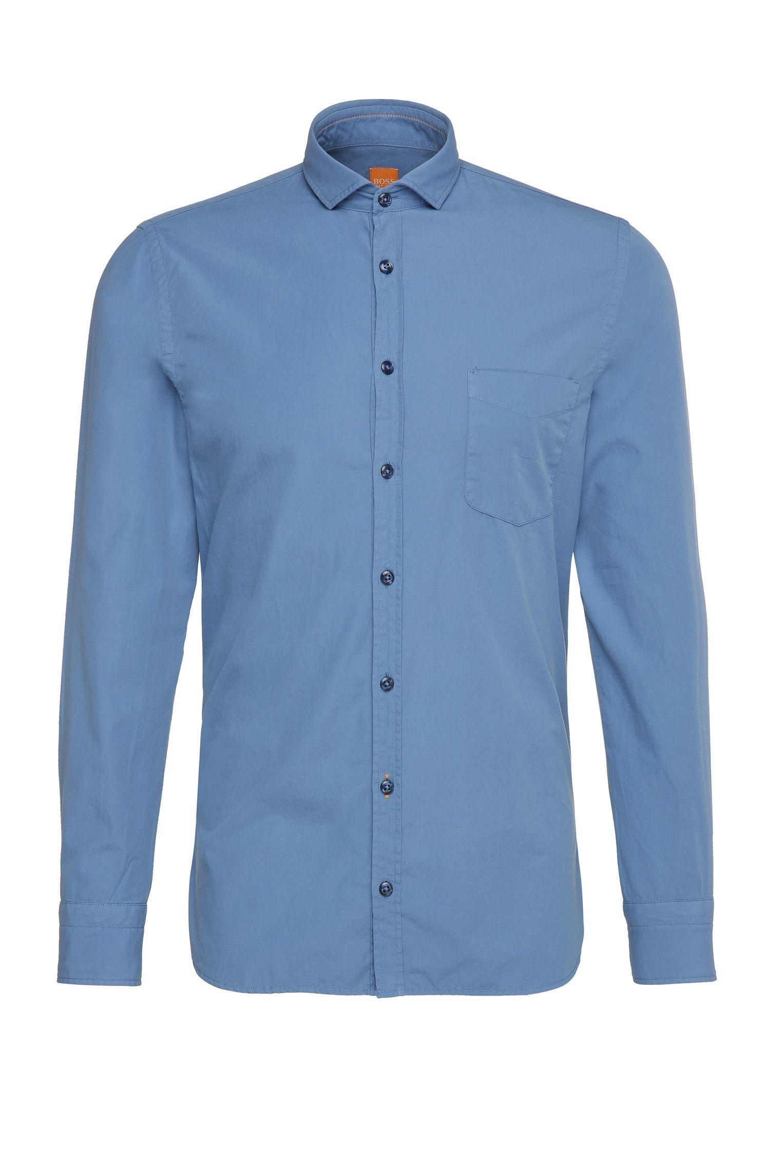 Camicia slim fit in cotone: 'Cattitude'