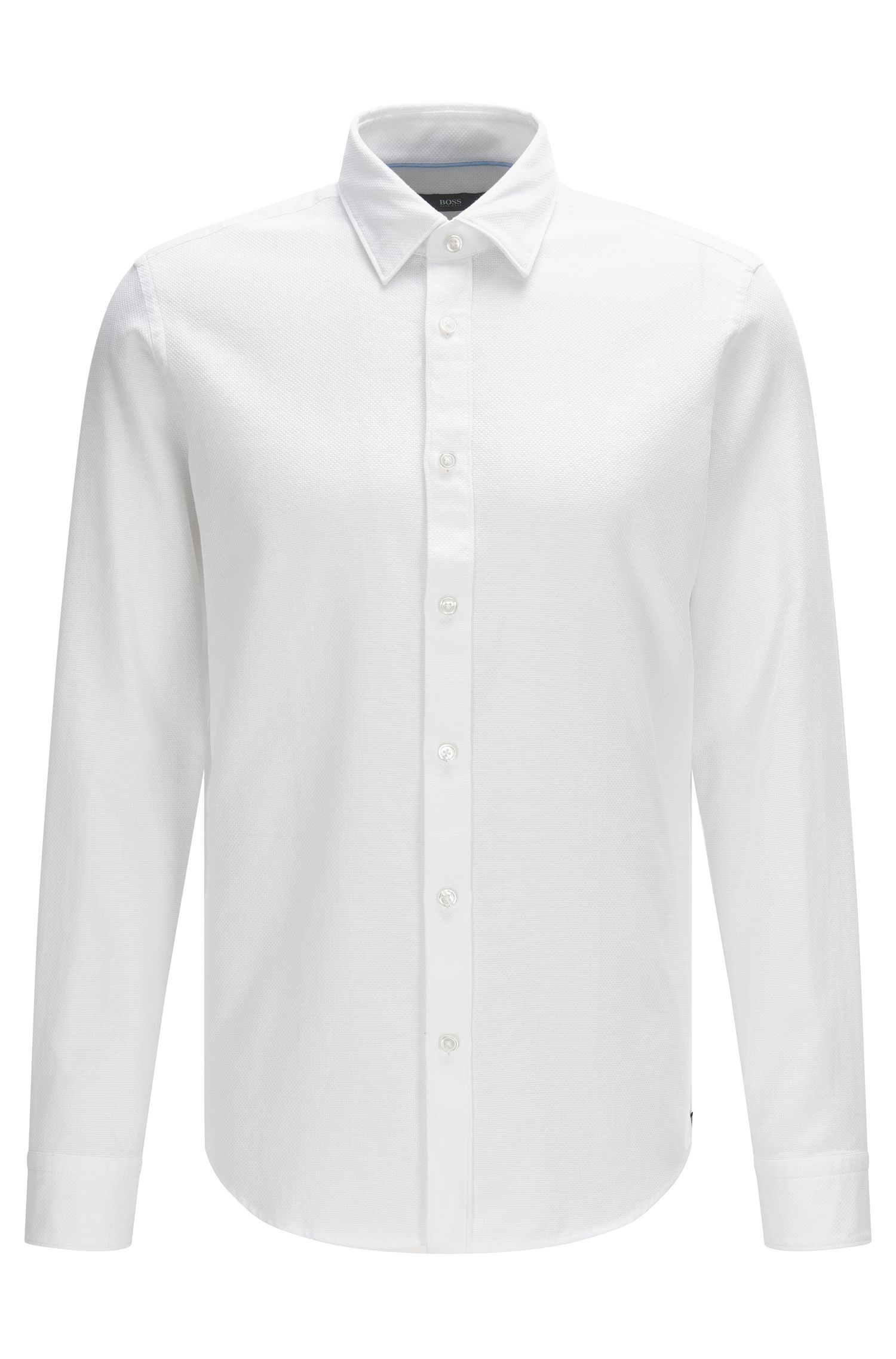 Chemise Regular Fit en coton structuré : « Lukas »