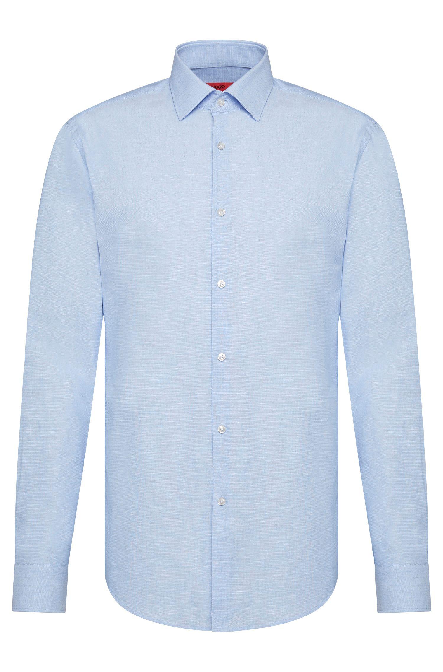 Dezent gemustertes Slim-Fit Hemd aus Baumwoll-Mix: 'C-Jenno'