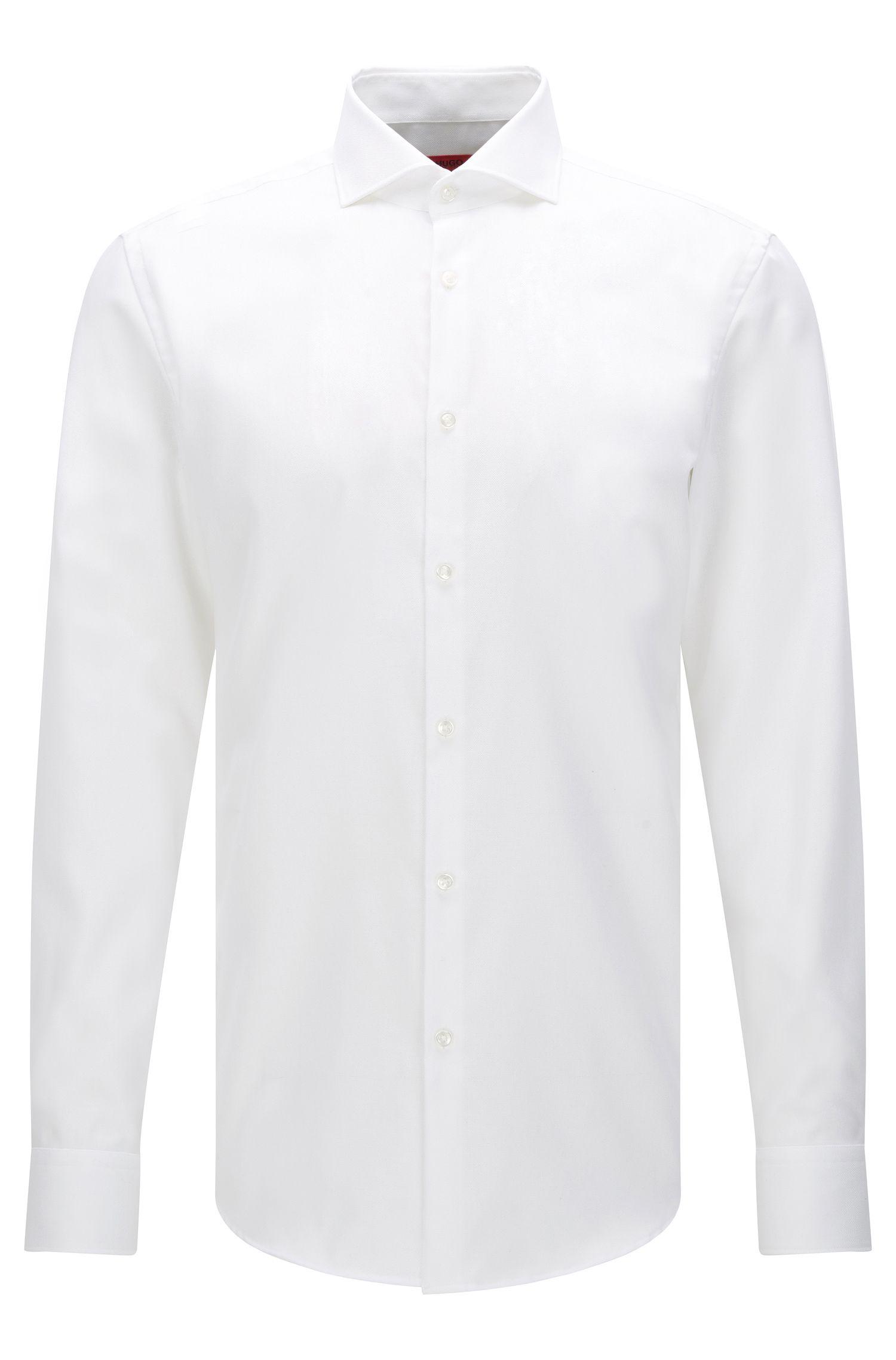 Slim-fit shirt in textured cotton: 'C-Jason'