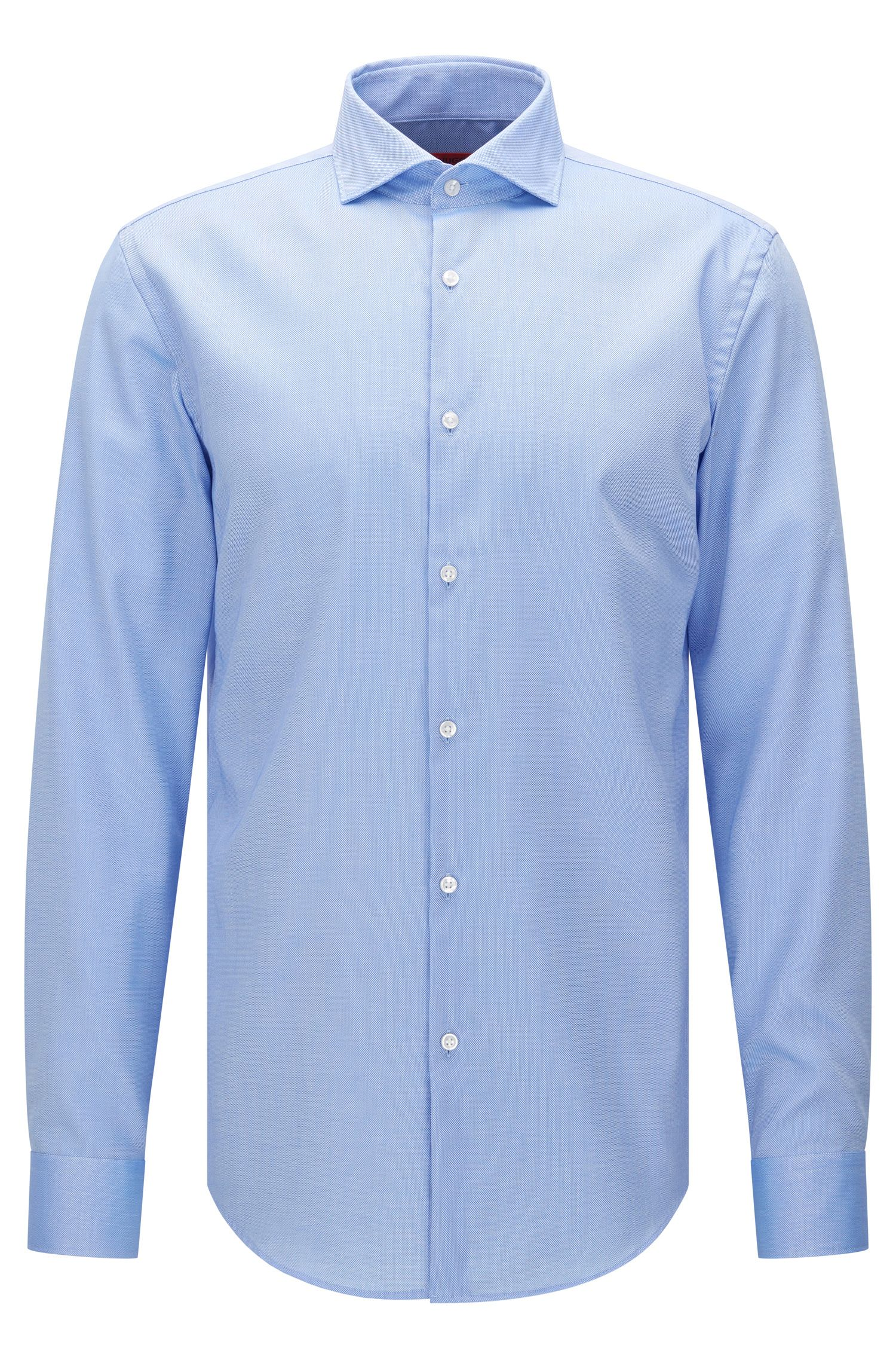 Slim-fit shirt in textured cotton: 'C-Jason'