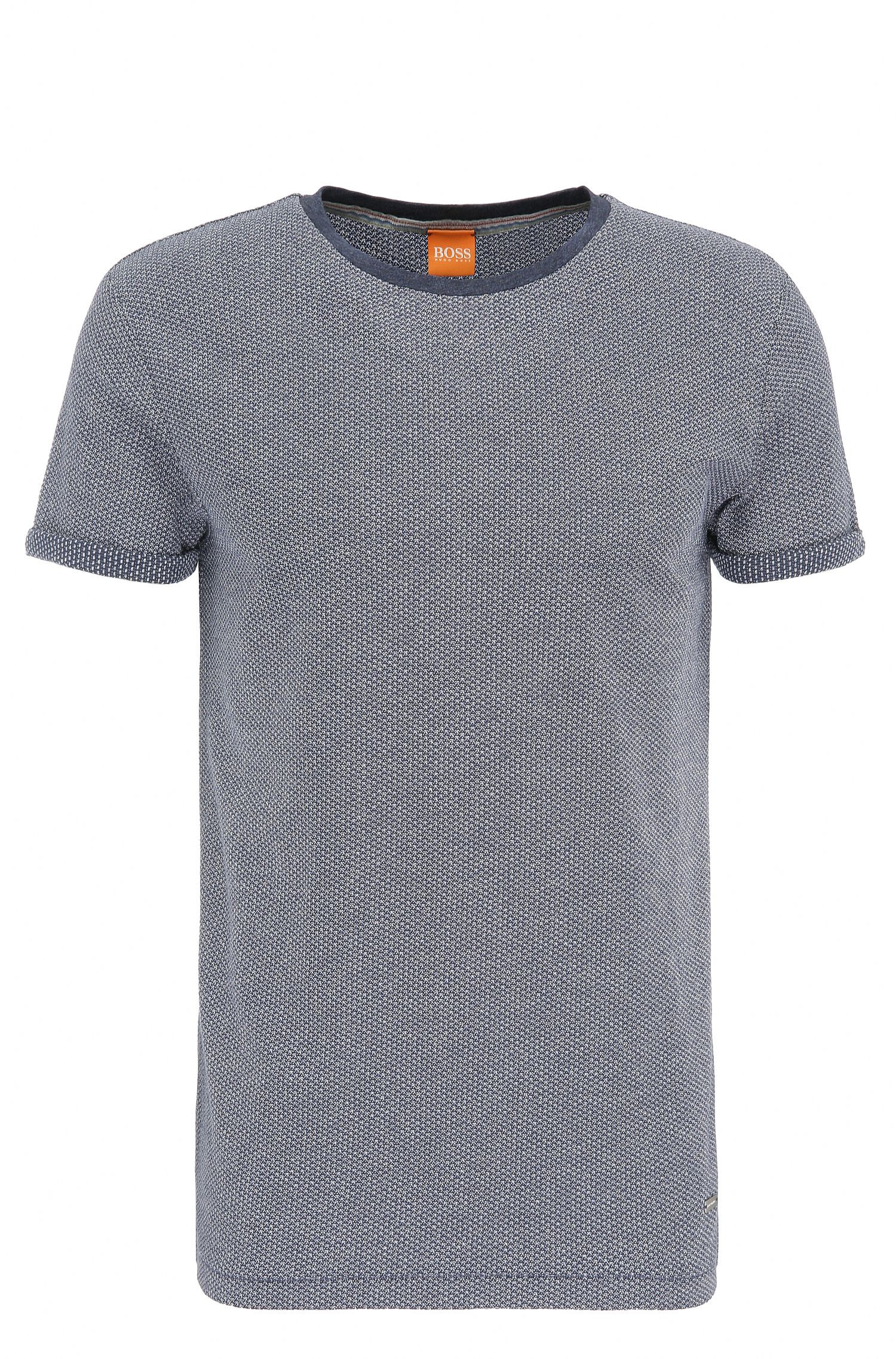 Regular-Fit T-Shirt aus Baumwolle in Strick-Optik: ´T-Break`
