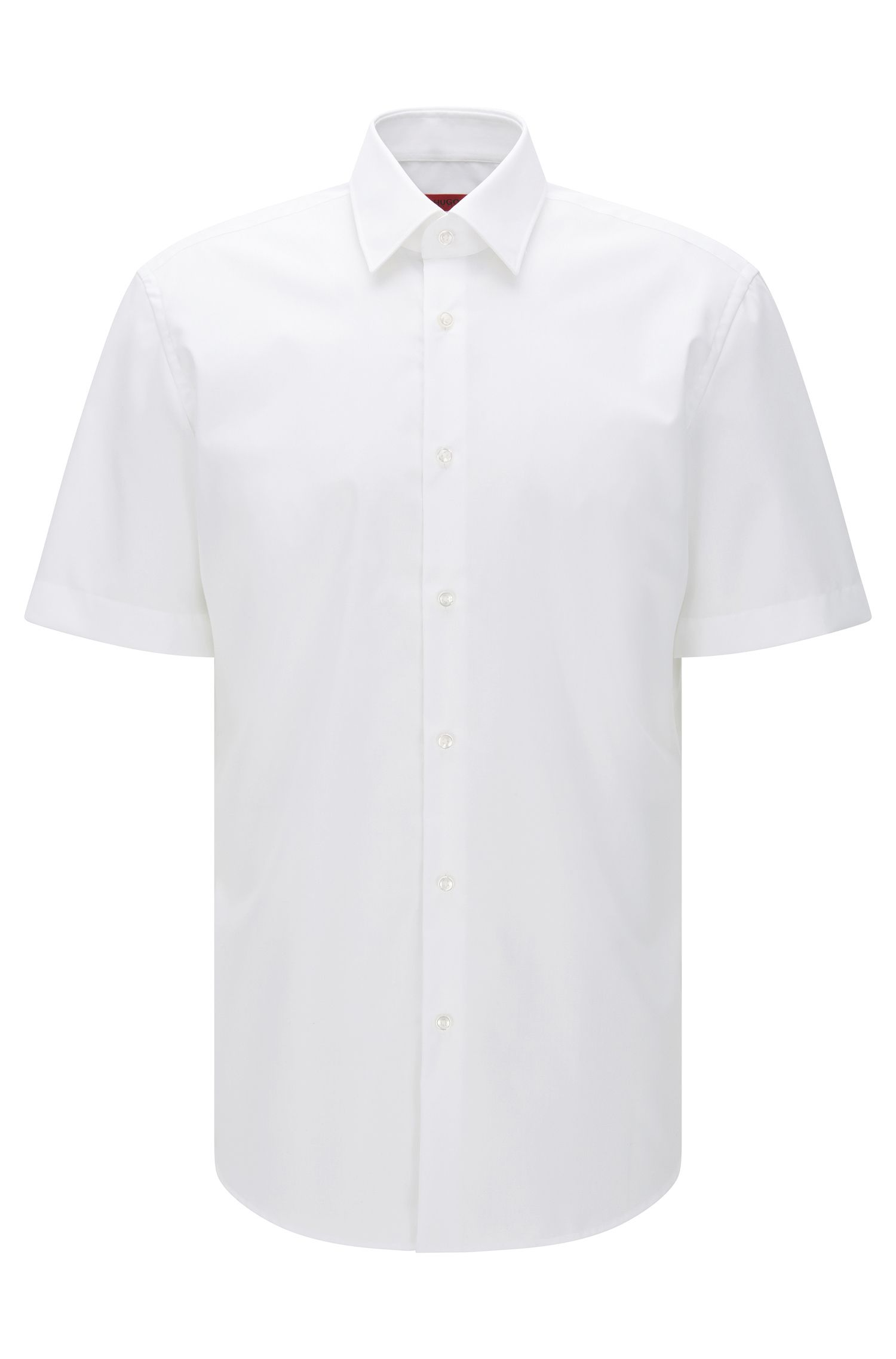 Regular-fit short-sleeved shirt in easy-iron cotton: 'C-Enzino'