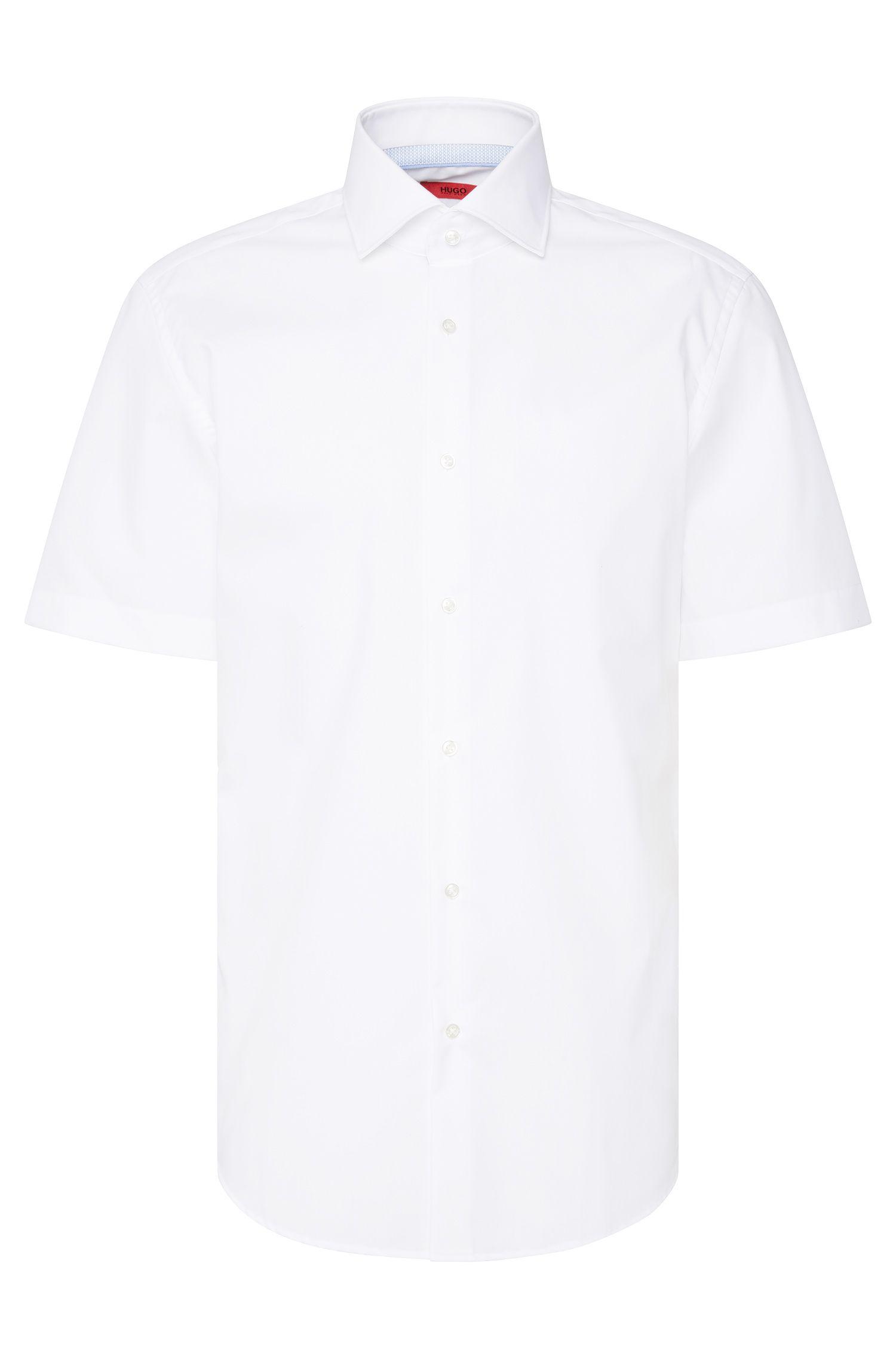 Regular-fit overhemd van katoen met korte mouwen: 'C-Eraldino'