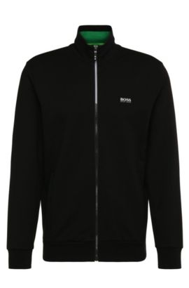 Blouson molletonné Regular Fit en coton stretch : « Skaz 1 », Noir