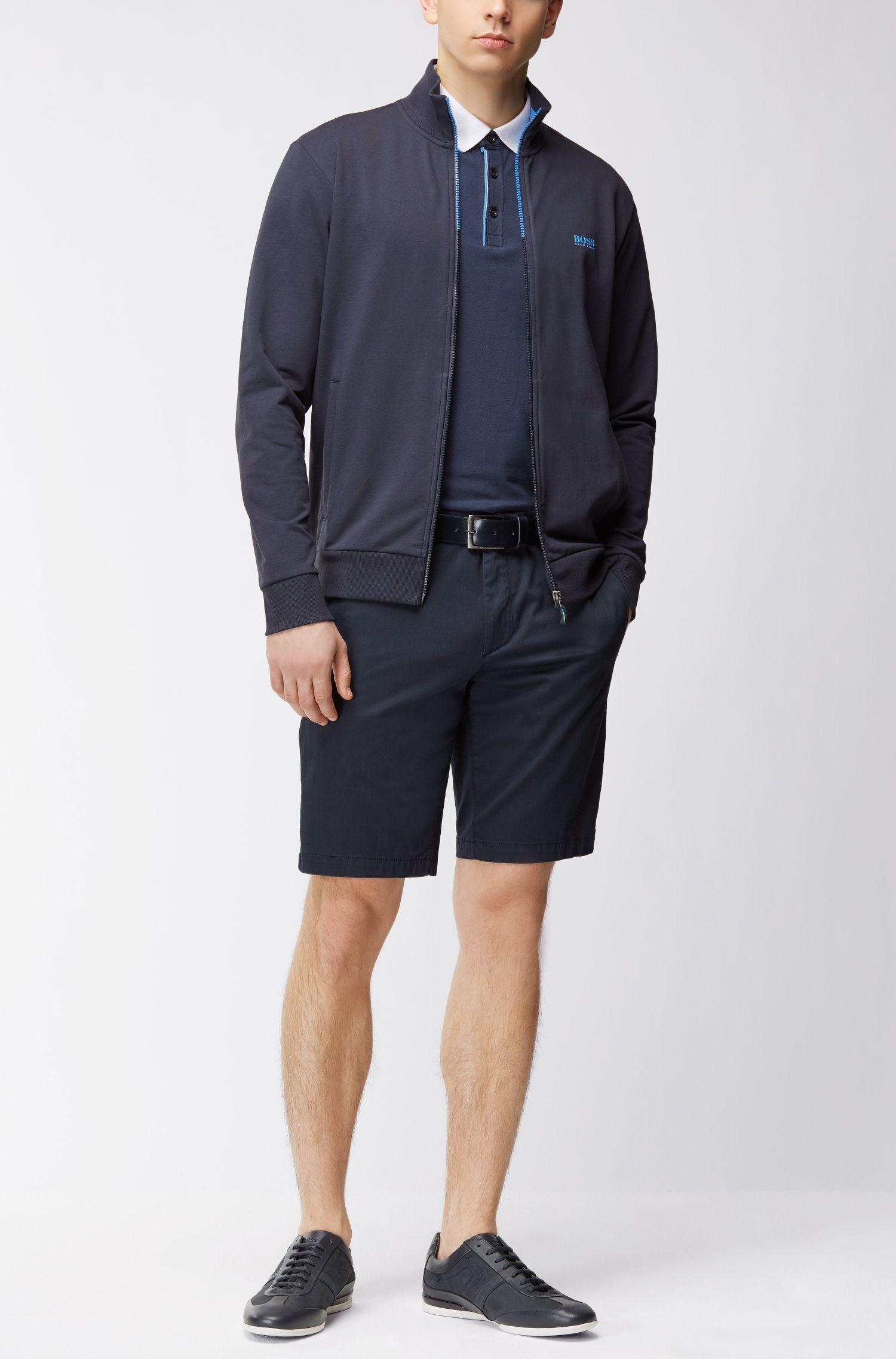 Giacca in felpa regular fit in cotone elasticizzato: 'Skaz 1', Blu scuro