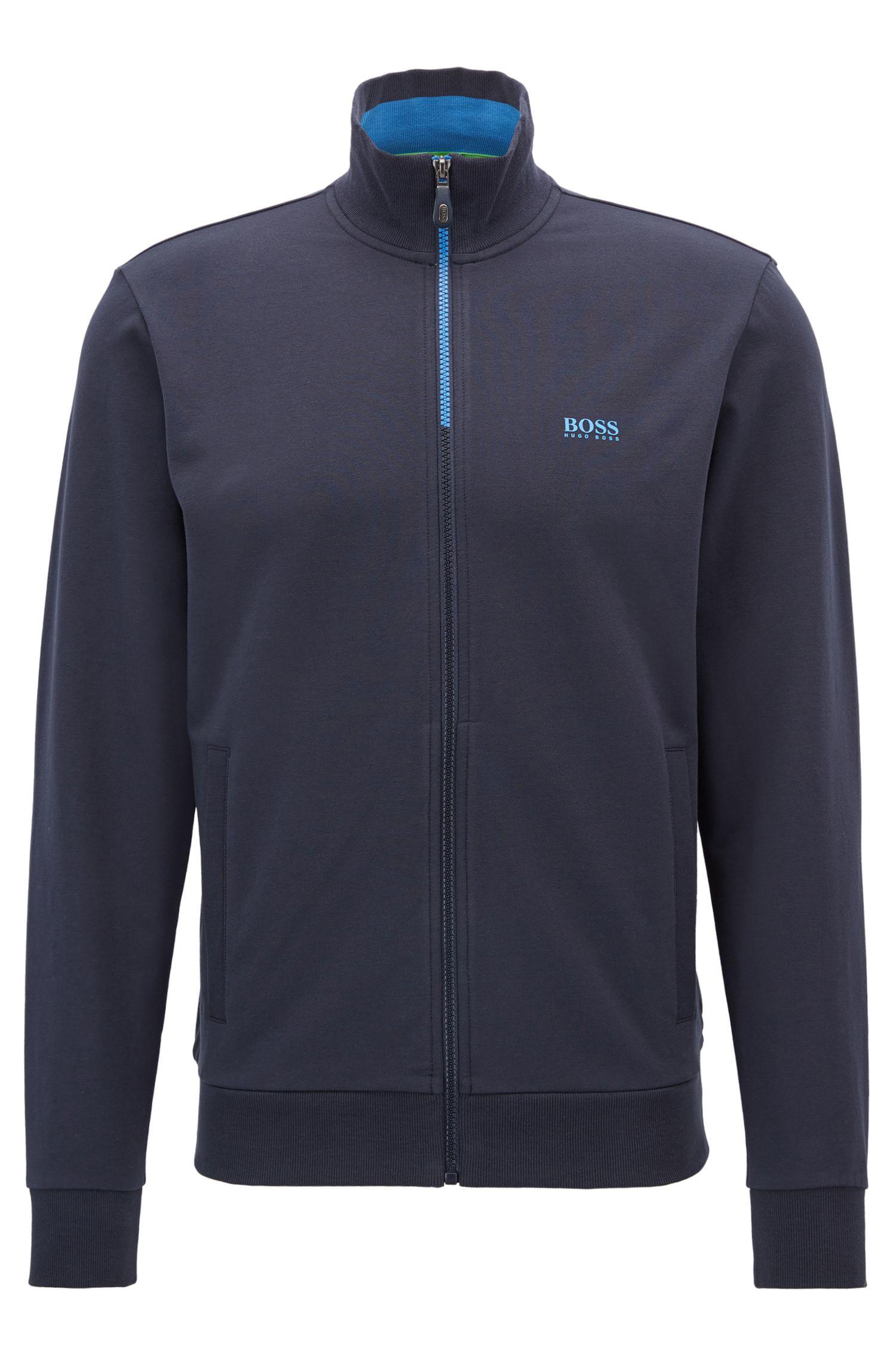 Regular-Fit Sweatshirt-Jacke aus Stretch-Baumwolle: ´Skaz 1`