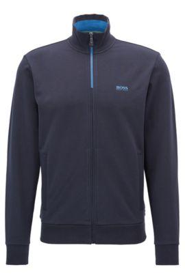 Regular-Fit Sweatshirt-Jacke aus Stretch-Baumwolle: ´Skaz 1`, Dunkelblau