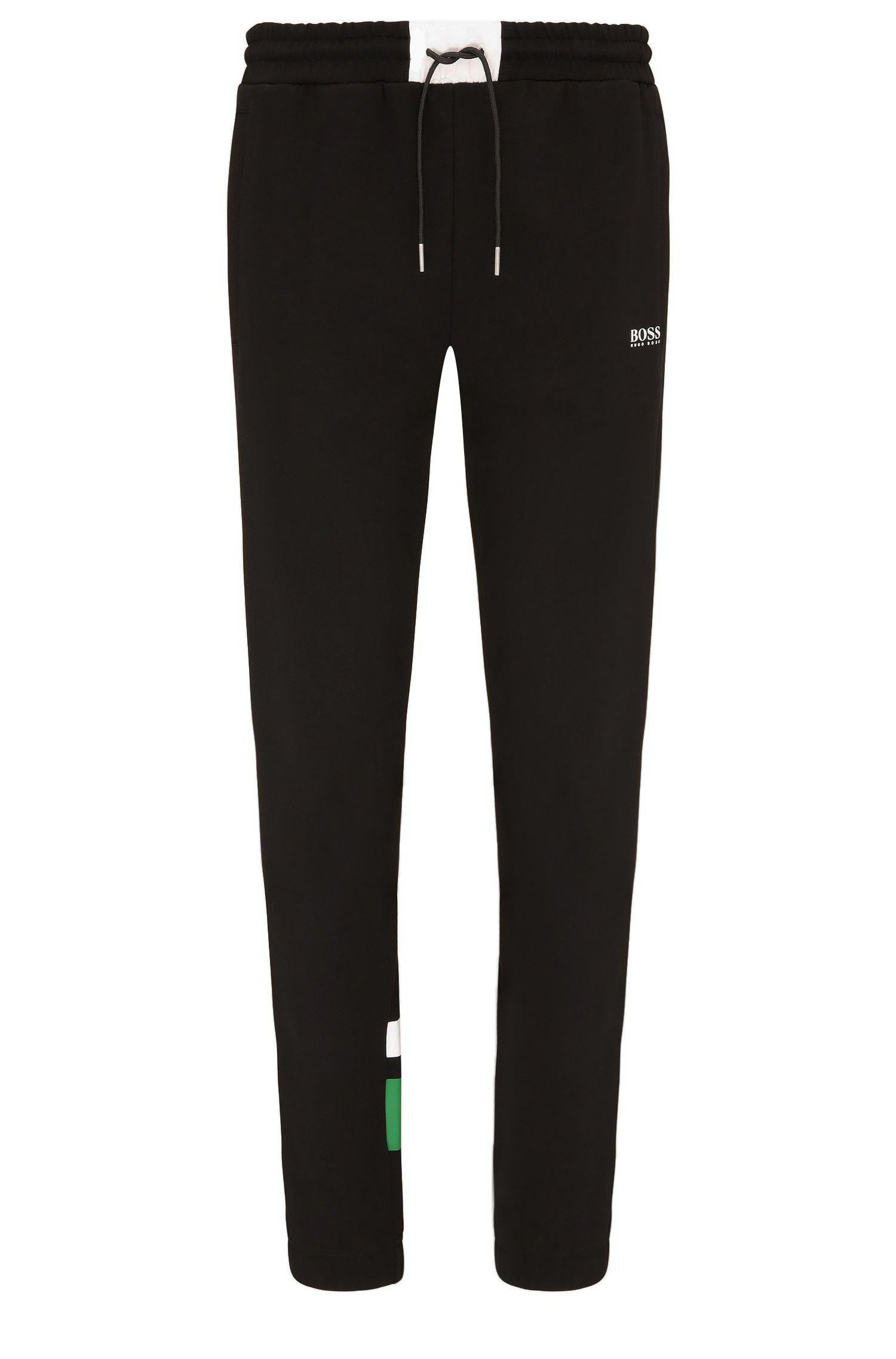 Pantalon de jogging Regular Fit en coton avec de l'élasthanne: «Halko»
