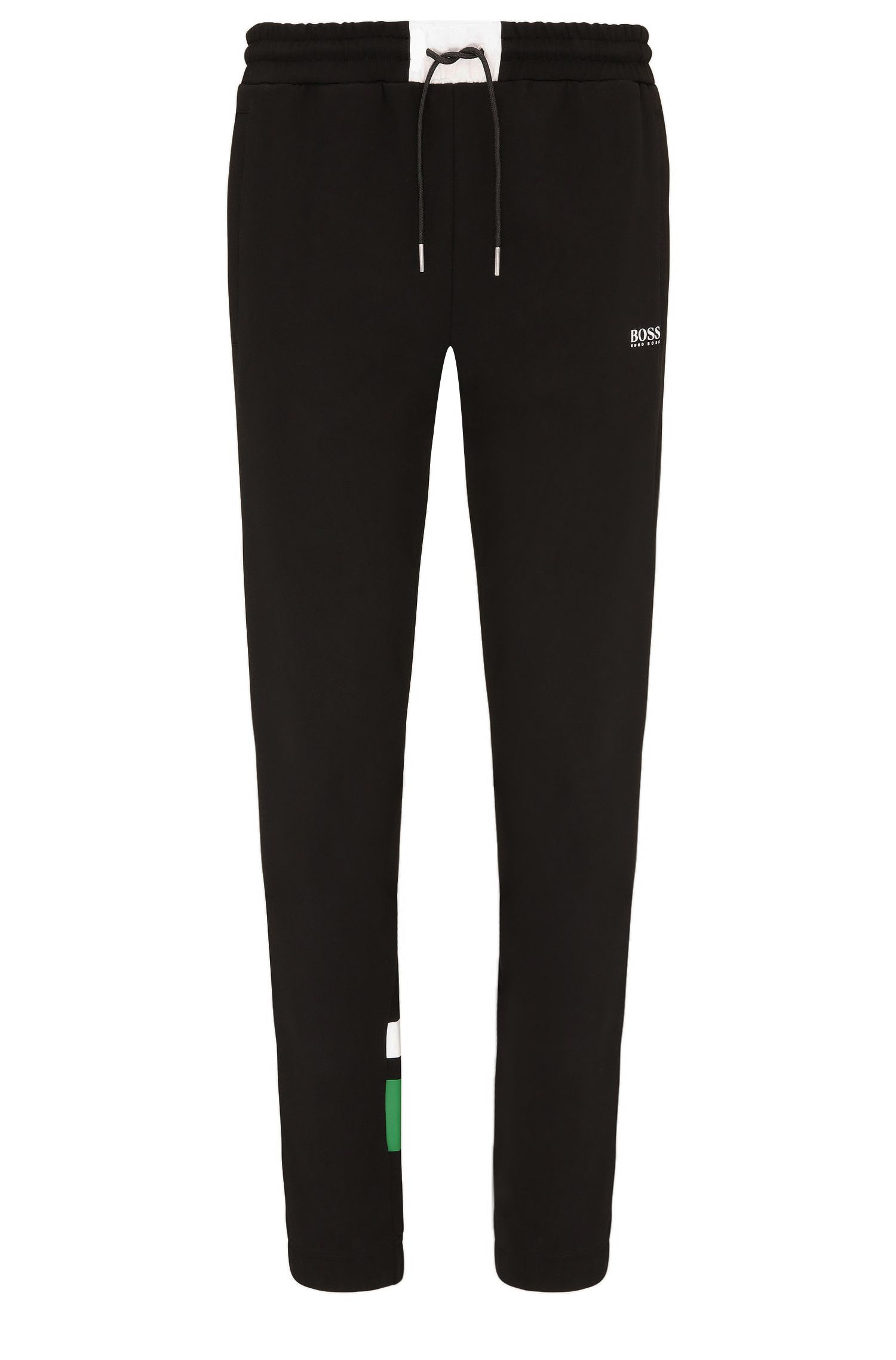 Regular-fit tracksuit bottoms in a stretch cotton blend: 'Halko'