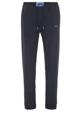 Pantaloni jogging regular fit in cotone con percentuale di elastan: 'Halko', Blu scuro