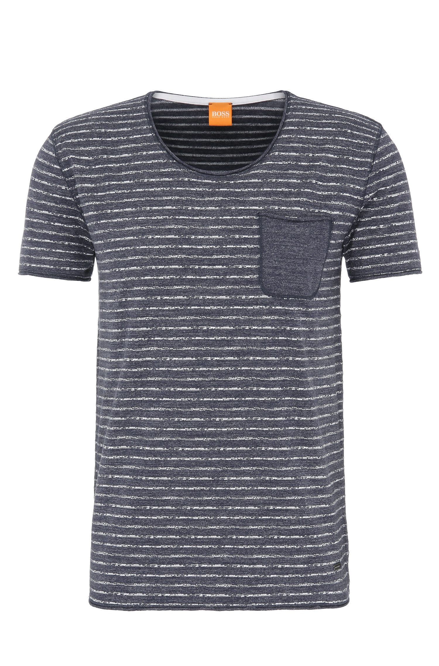 Striped slim-fit t-shirt in cotton: 'Toa'