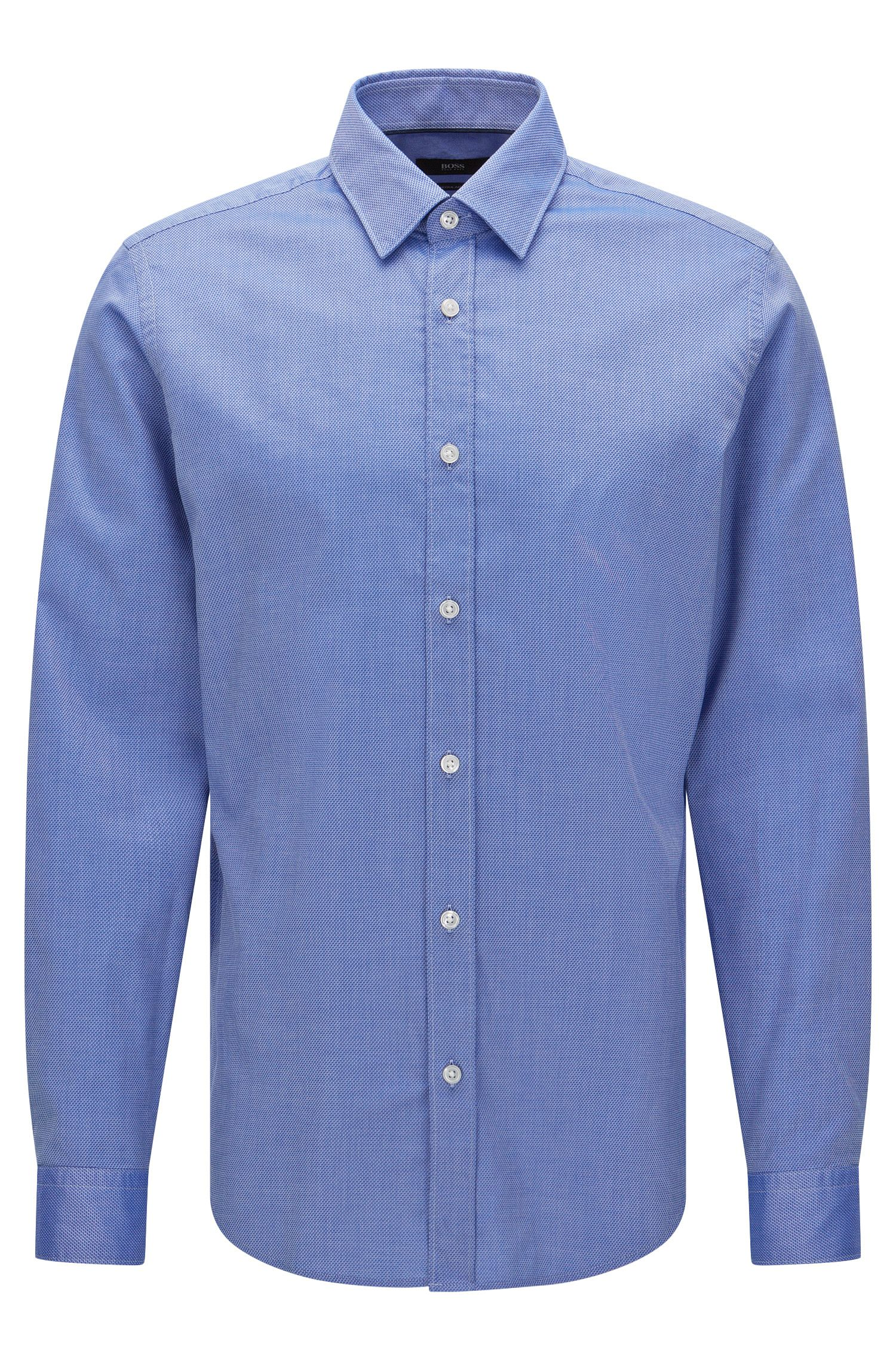 Finely patterned regular-fit shirt in cotton: 'Lukas_32'