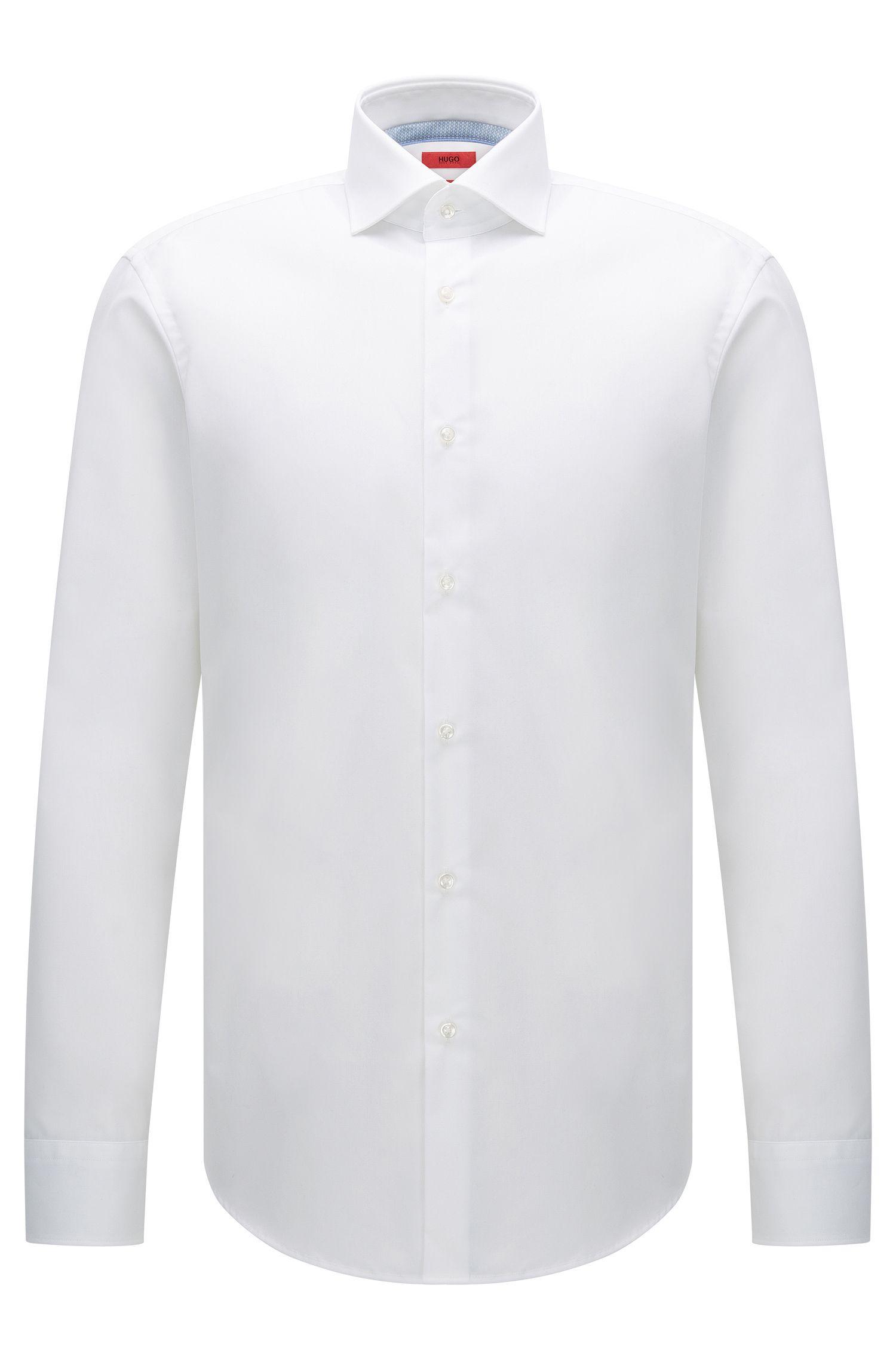 Regular-Fit Hemd aus bügelleichter Baumwolle: 'C-Eracli'