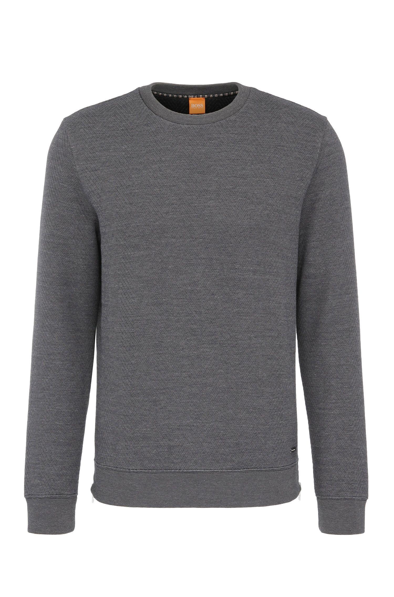 Sweatshirt in textured cotton blend: 'Wicious'