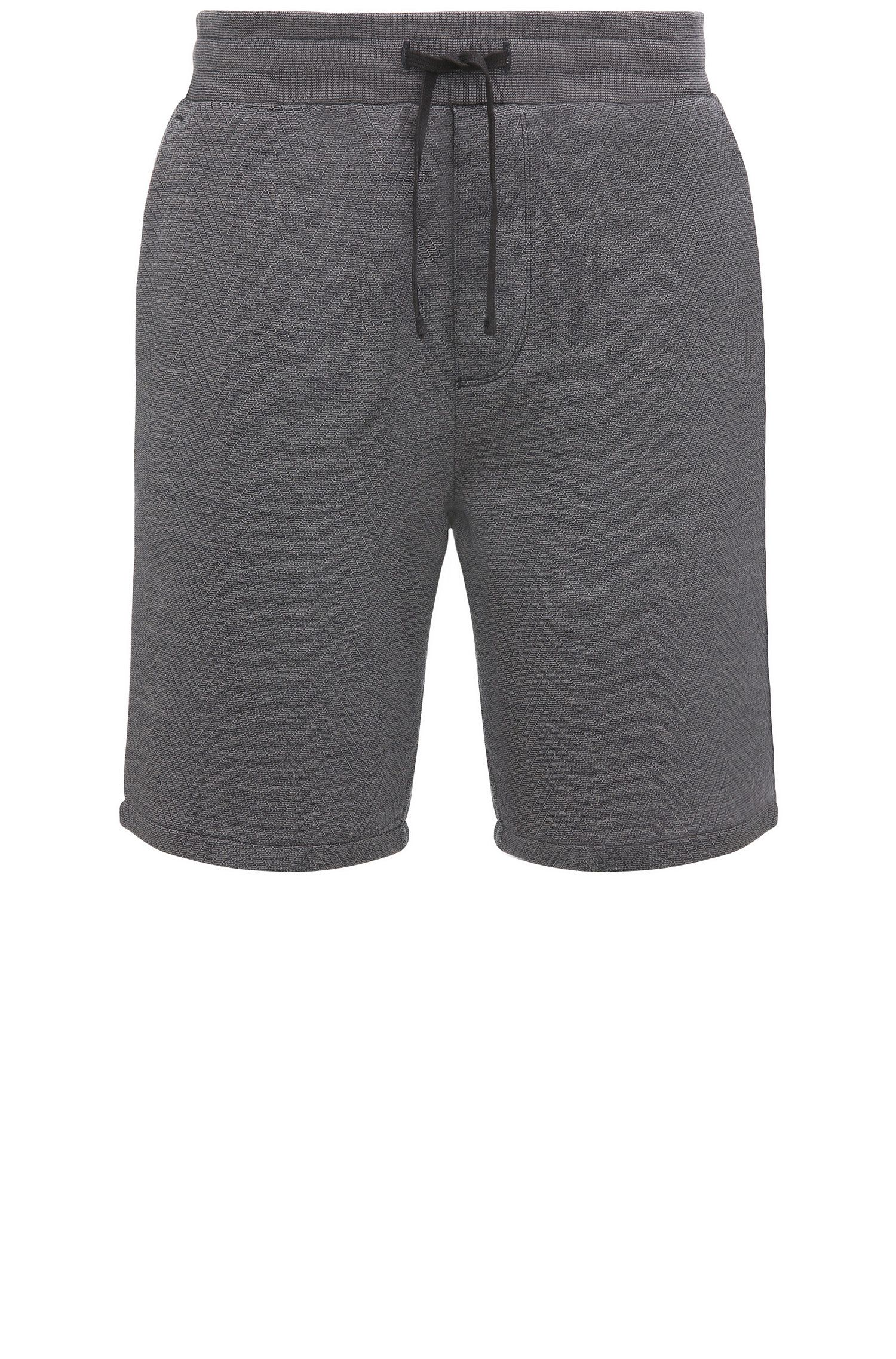 Regular-Fit Shorts aus Baumwoll-Mix mit Fischgrätmuster: ´Side`