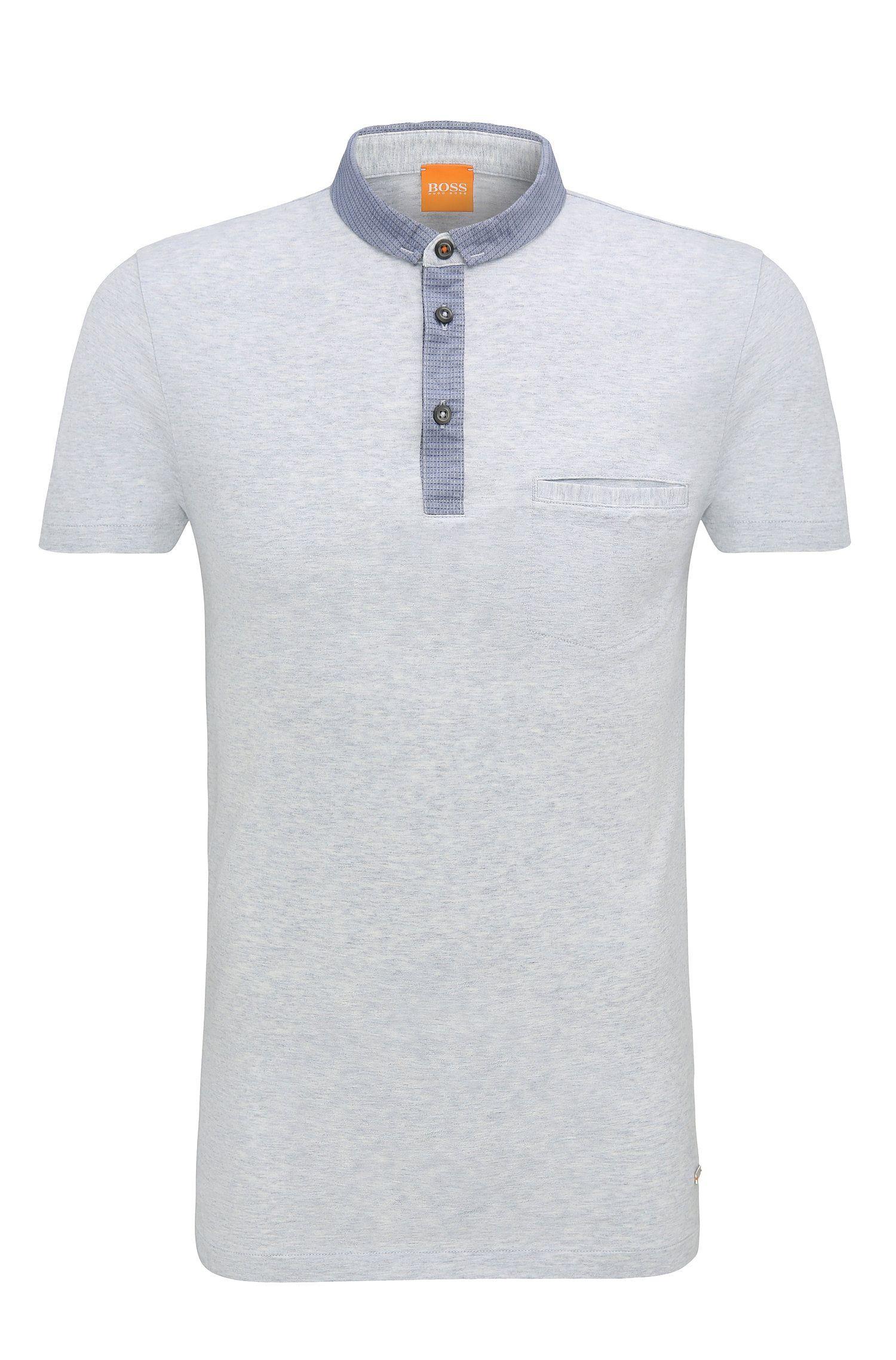 Polo jaspeado regular fit en algodón: 'Patcherman 1'