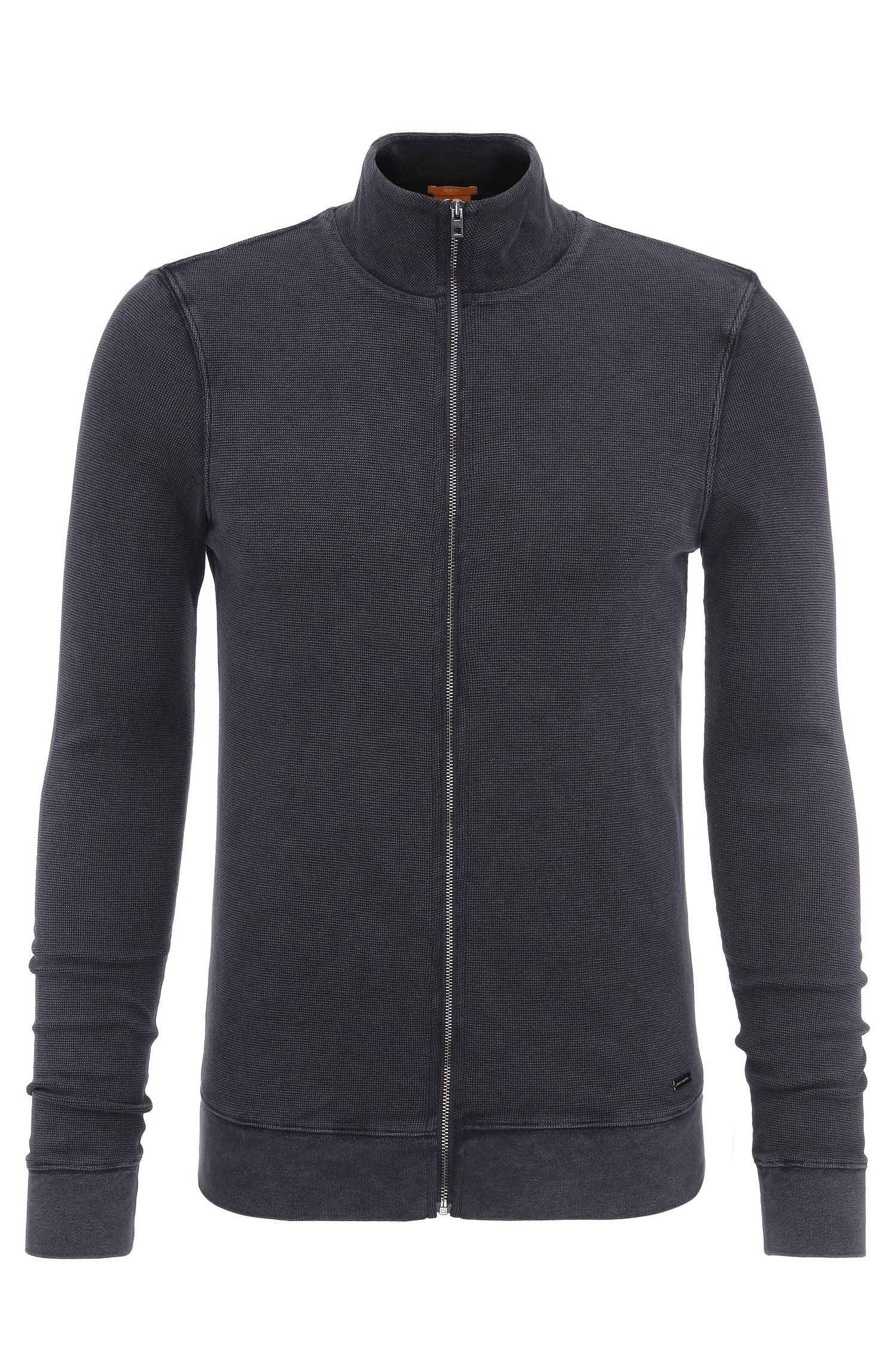 Slim-Fit Sweatshirt-Jacke aus Baumwolle: ´Zantana`