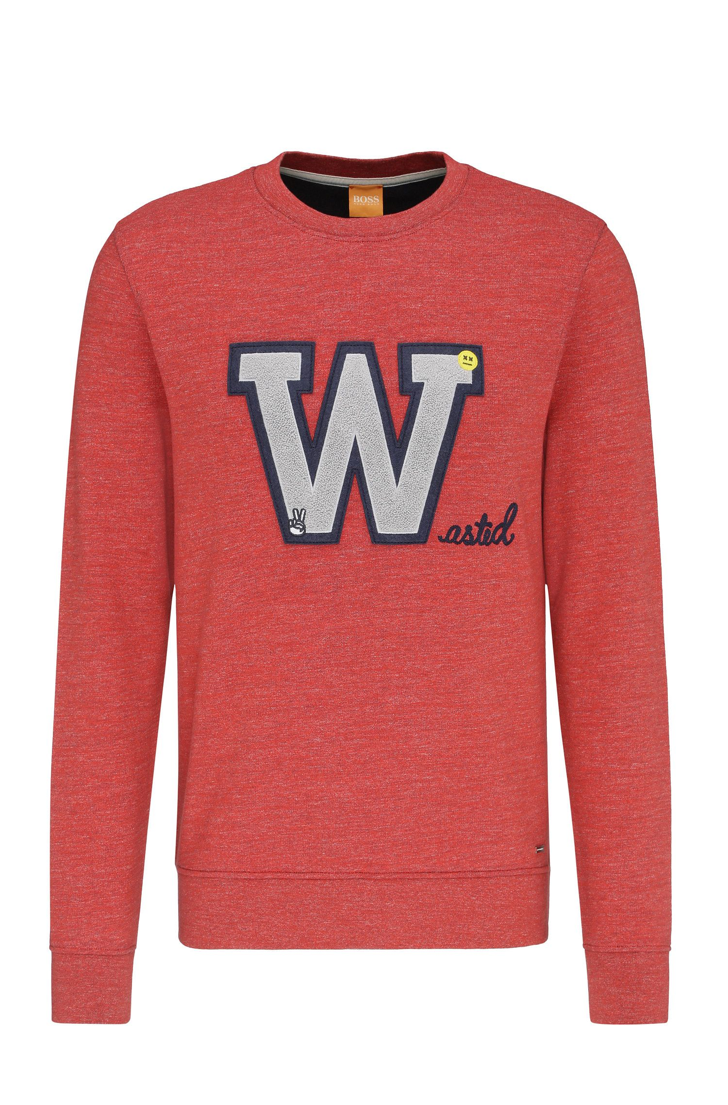 Regular-Fit Sweatshirt aus Baumwolle mit Front-Patch: ´Wariety`