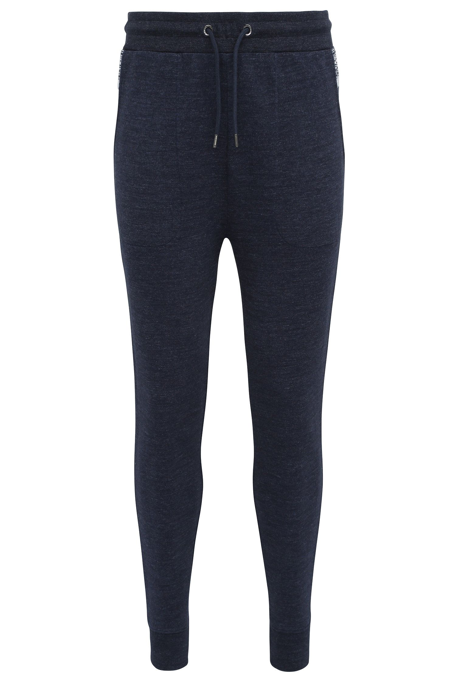 Regular-fit tracksuit bottoms in cotton blend with elastane: 'Shines'