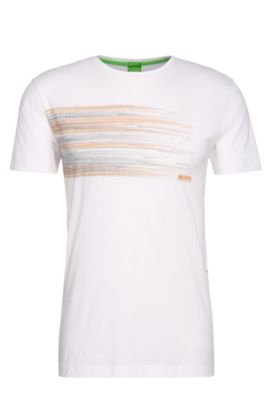 Camiseta regular fit en algodón con estampado: 'Teep 1', Blanco