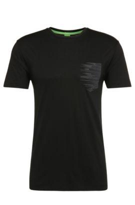 T-shirt Regular Fit en coton avec imprimé: «Teep», Noir